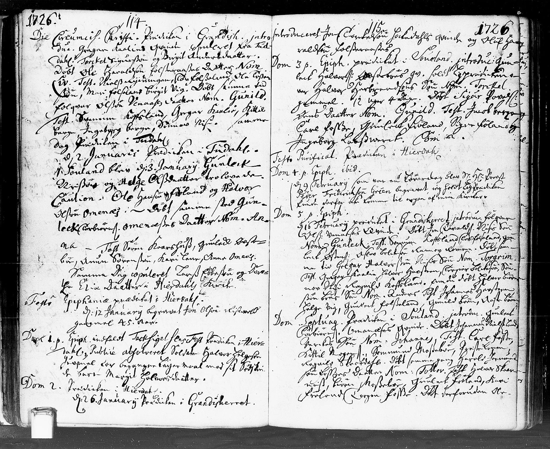 SAKO, Hjartdal kirkebøker, F/Fa/L0002: Ministerialbok nr. I 2, 1716-1754, s. 114-115