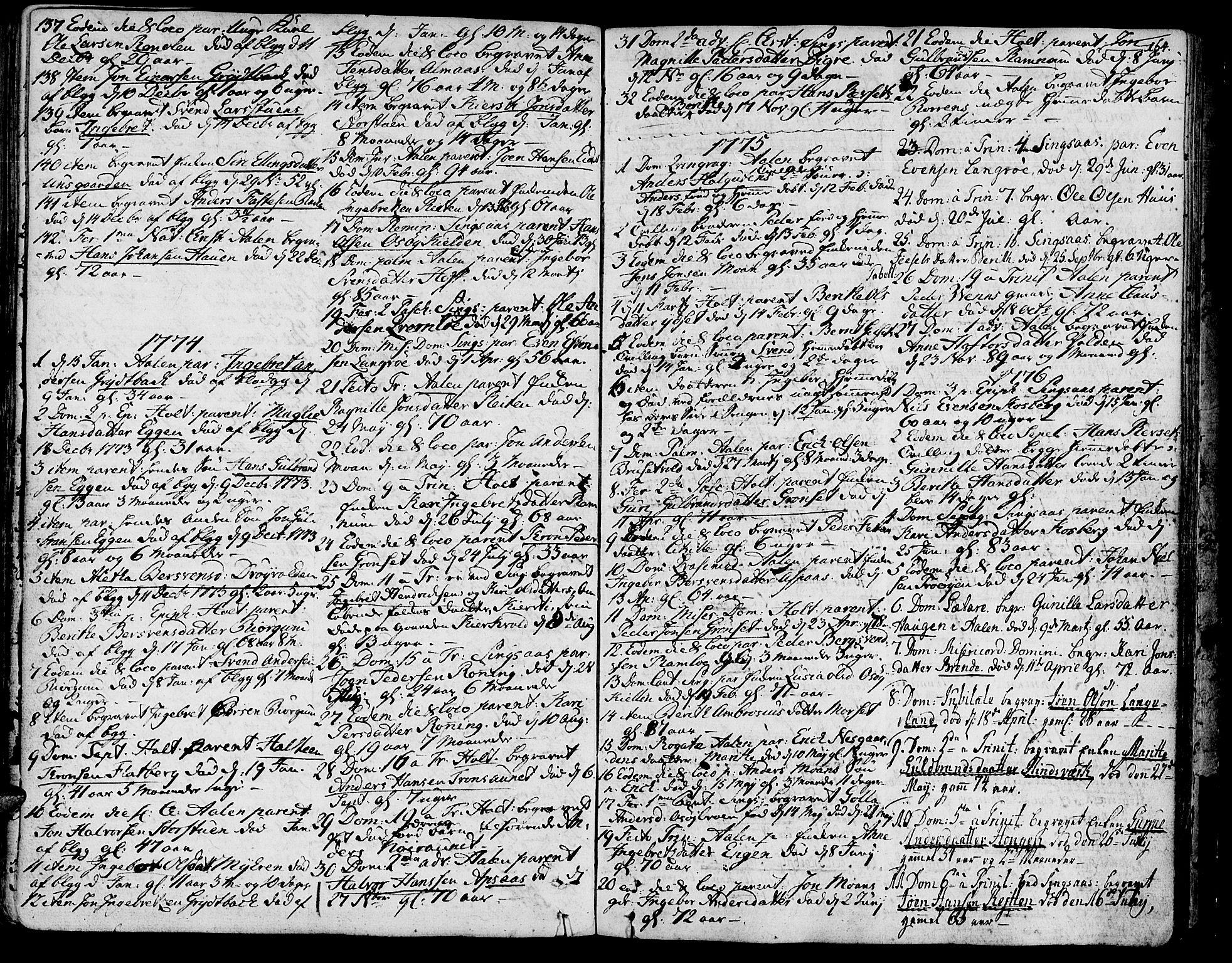 SAT, Ministerialprotokoller, klokkerbøker og fødselsregistre - Sør-Trøndelag, 685/L0952: Ministerialbok nr. 685A01, 1745-1804, s. 164