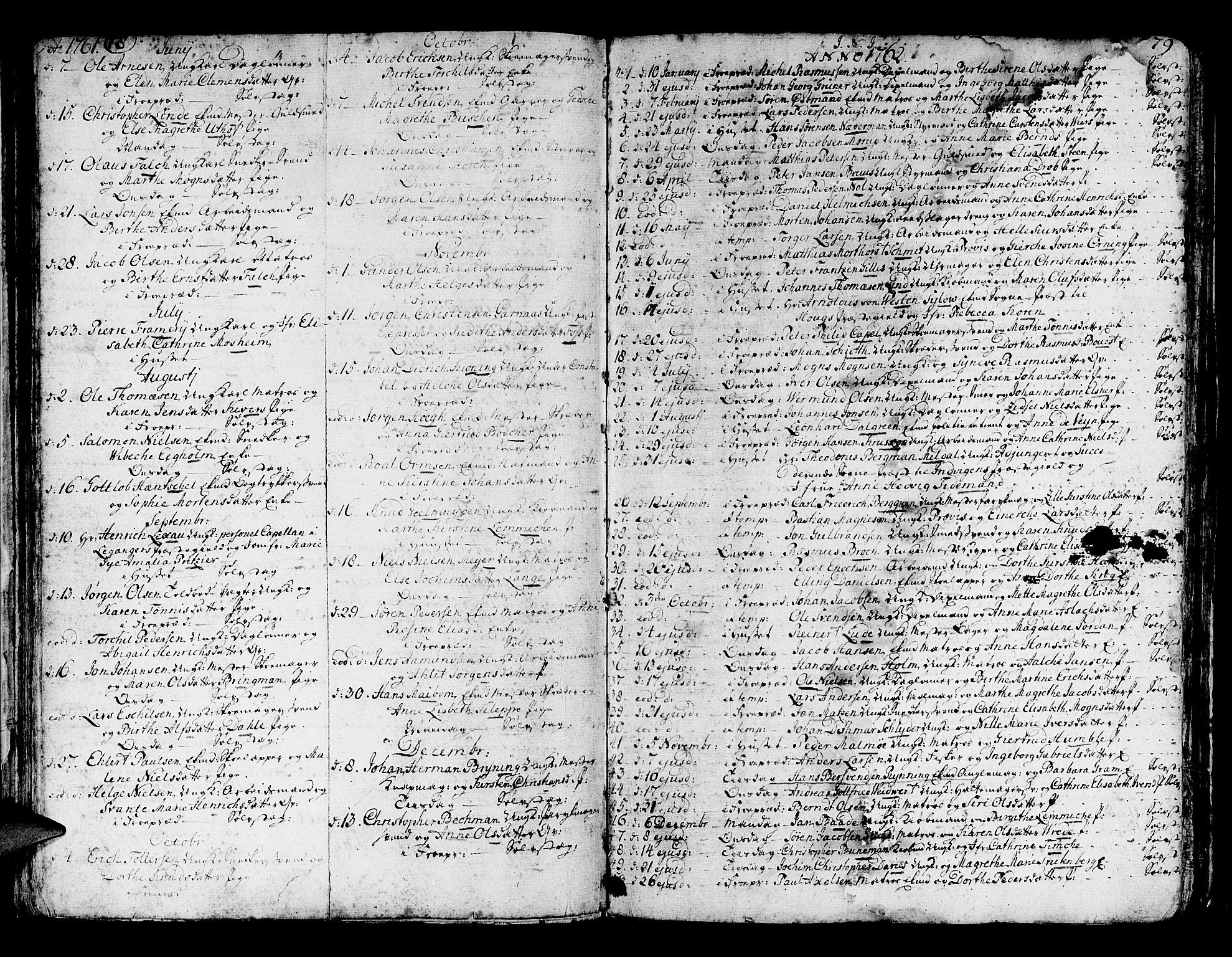 SAB, Domkirken sokneprestembete, H/Haa/L0007: Ministerialbok nr. A 7, 1725-1826, s. 78-79