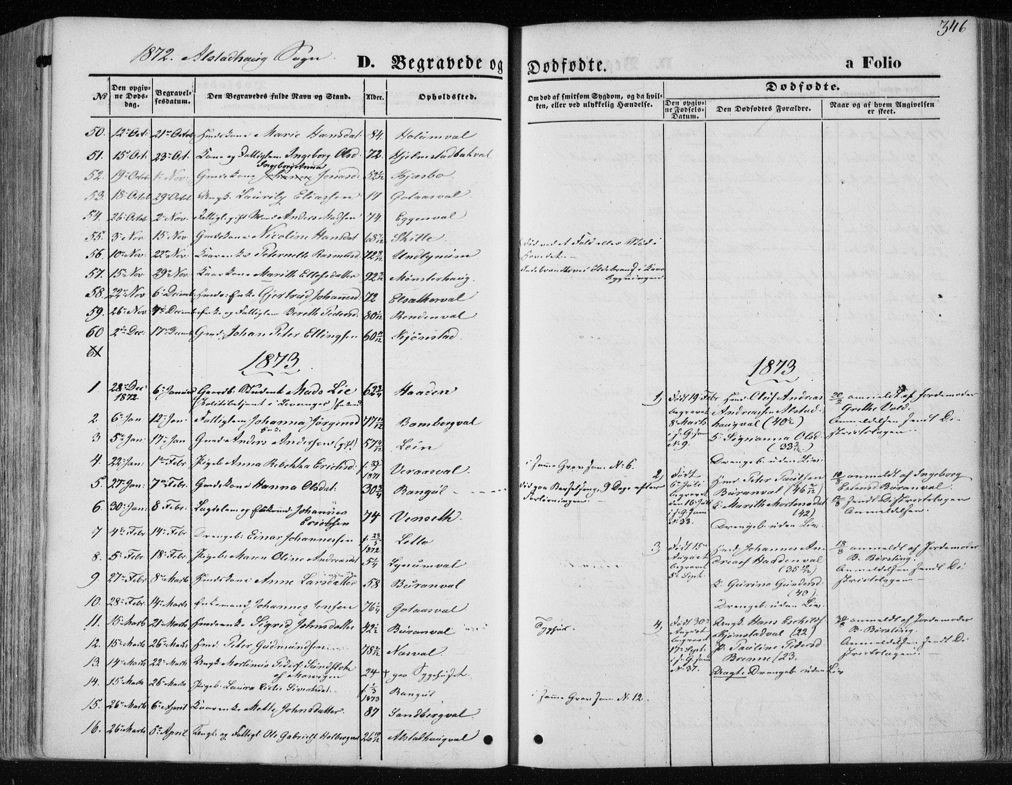 SAT, Ministerialprotokoller, klokkerbøker og fødselsregistre - Nord-Trøndelag, 717/L0157: Ministerialbok nr. 717A08 /1, 1863-1877, s. 346