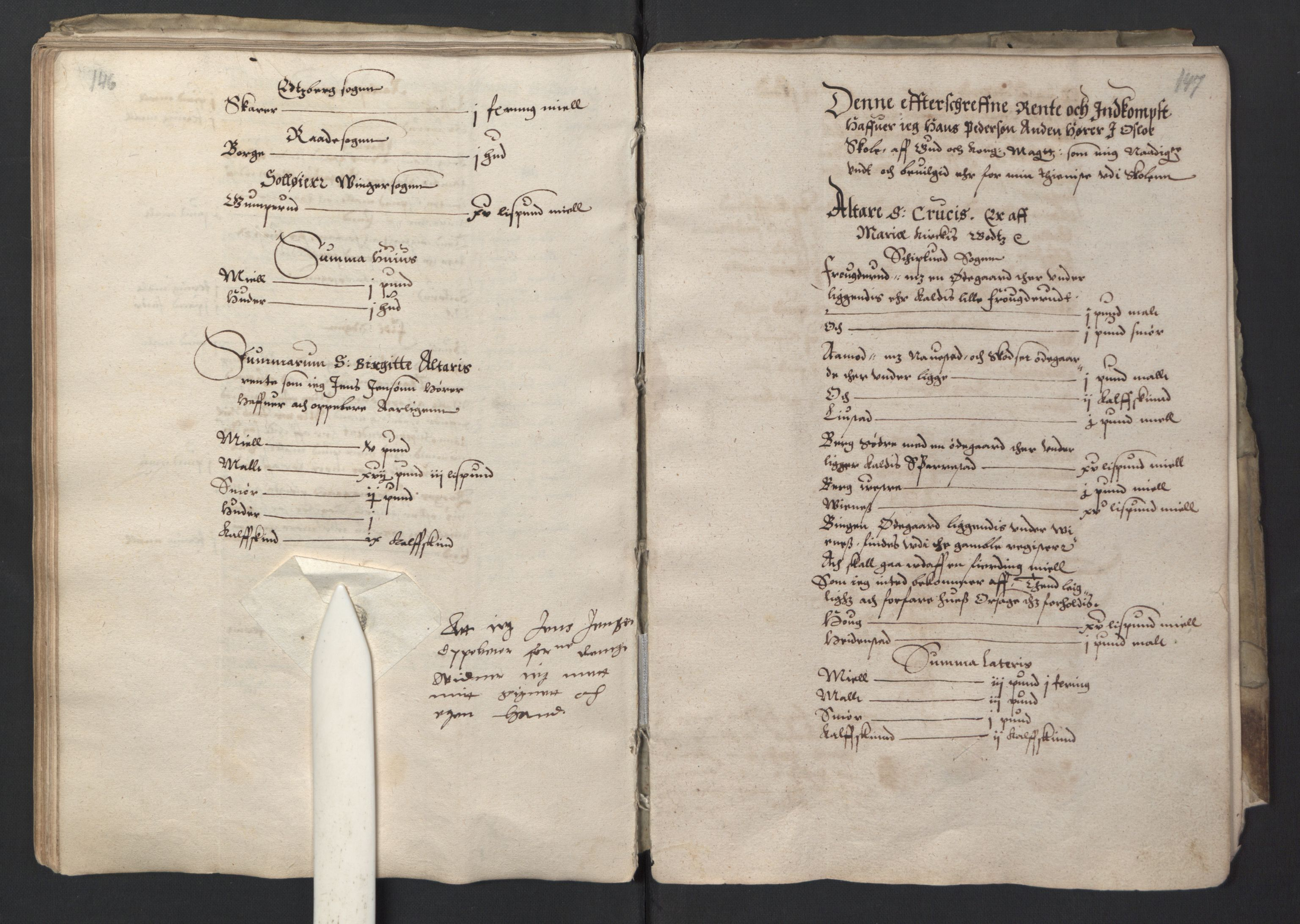 RA, Stattholderembetet 1572-1771, Ek/L0001: Jordebøker før 1624 og til utligning av garnisonsskatt 1624-1626:, 1595, s. 146-147