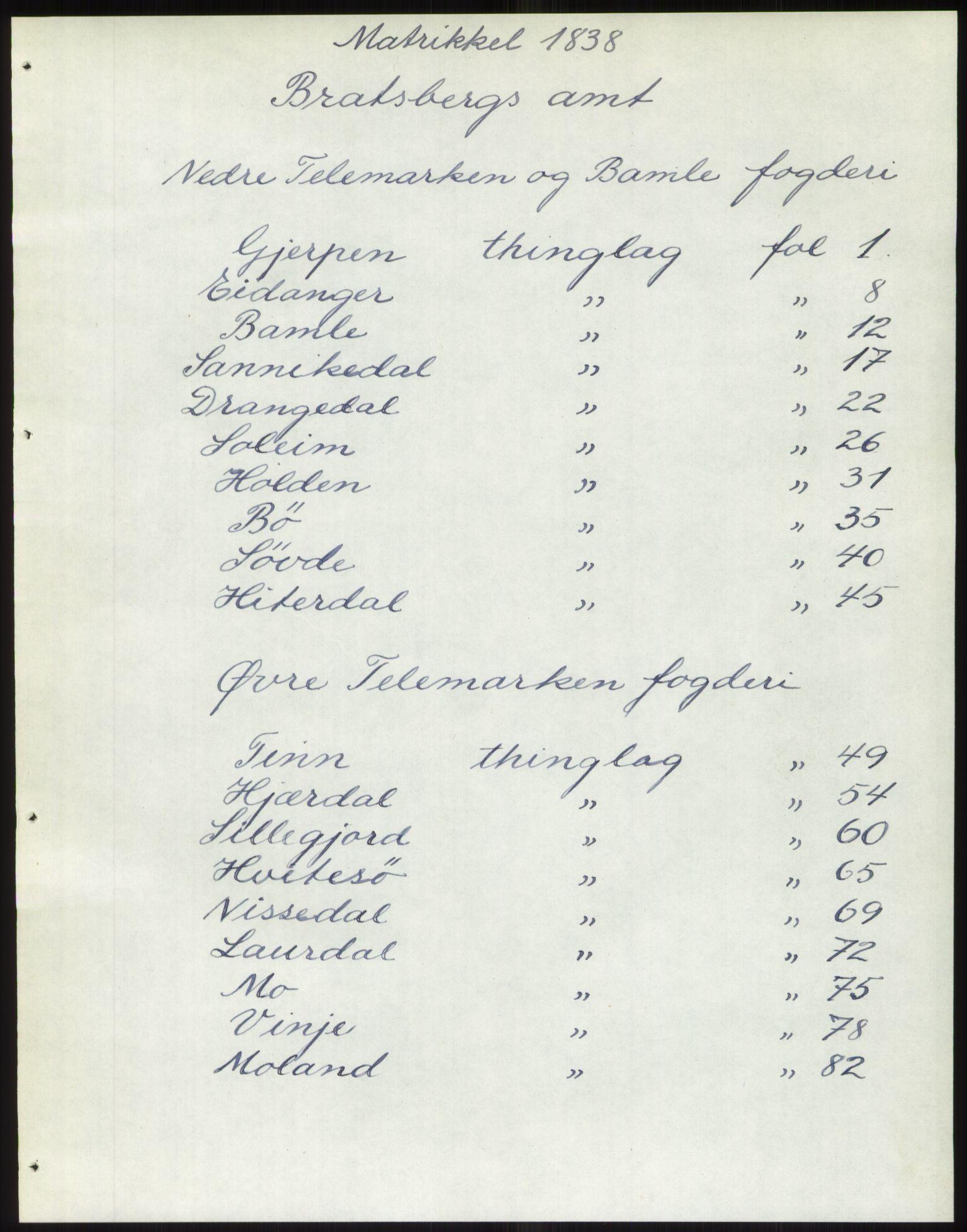 PUBL, Andre publikasjoner, -/Bind 7: Bratsberg amt, 1838, s. 1
