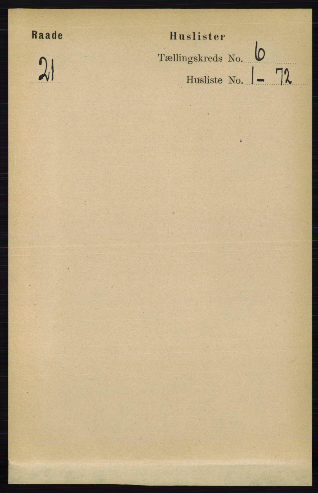 RA, Folketelling 1891 for 0135 Råde herred, 1891, s. 3079
