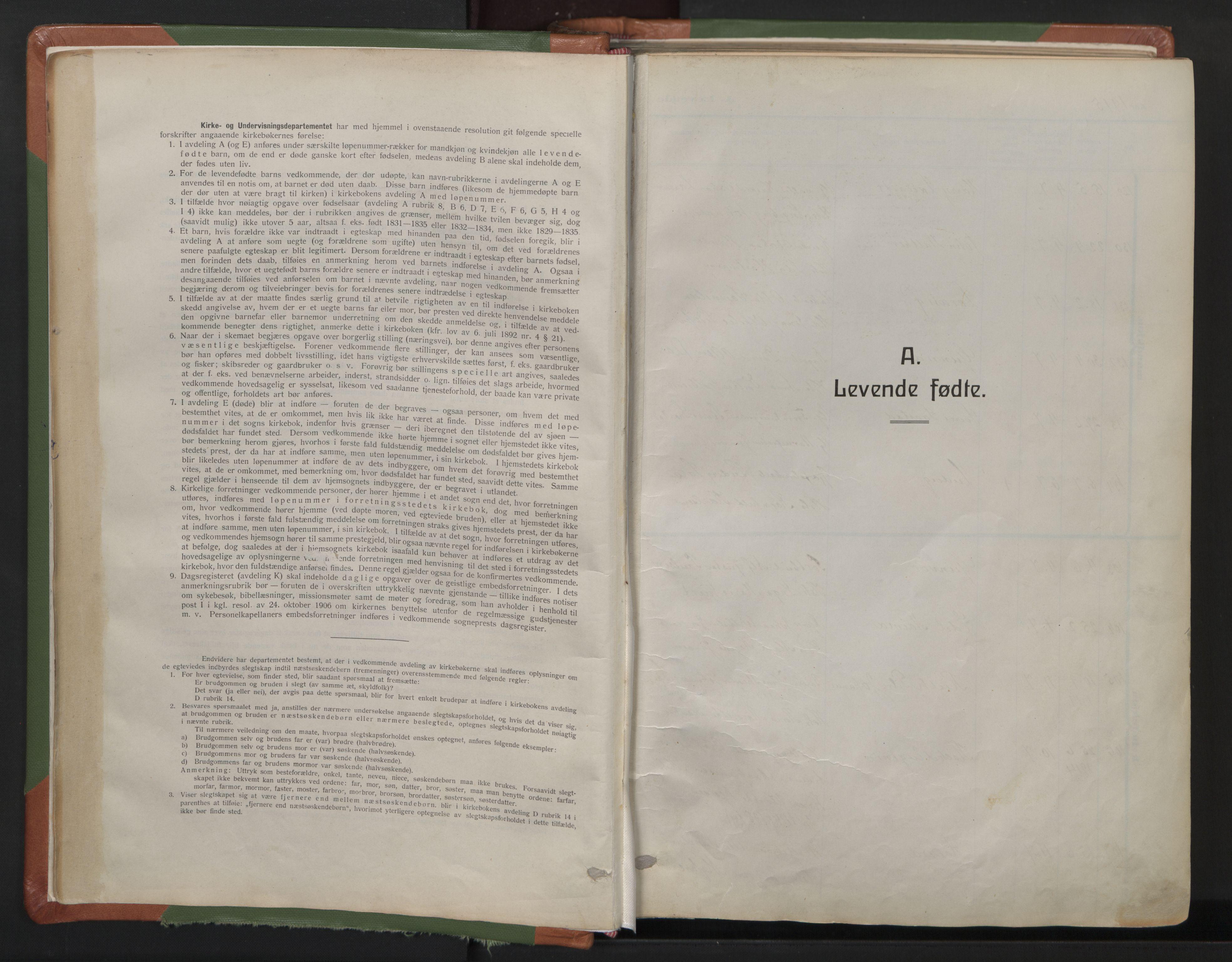 SAO, Sagene prestekontor Kirkebøker, F/L0010: Ministerialbok nr. 10, 1915-1925