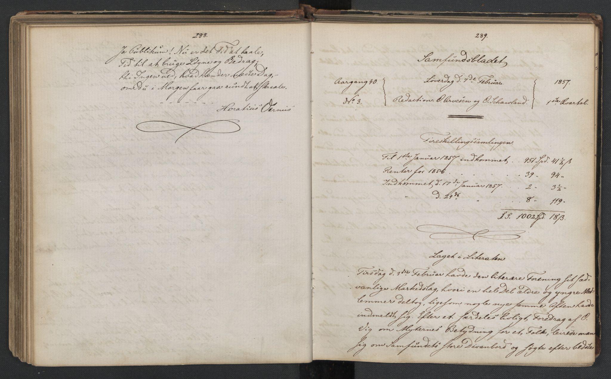 RA, Det Norske Studentersamfund, X/Xa/L0006, 1856-1857, s. 148