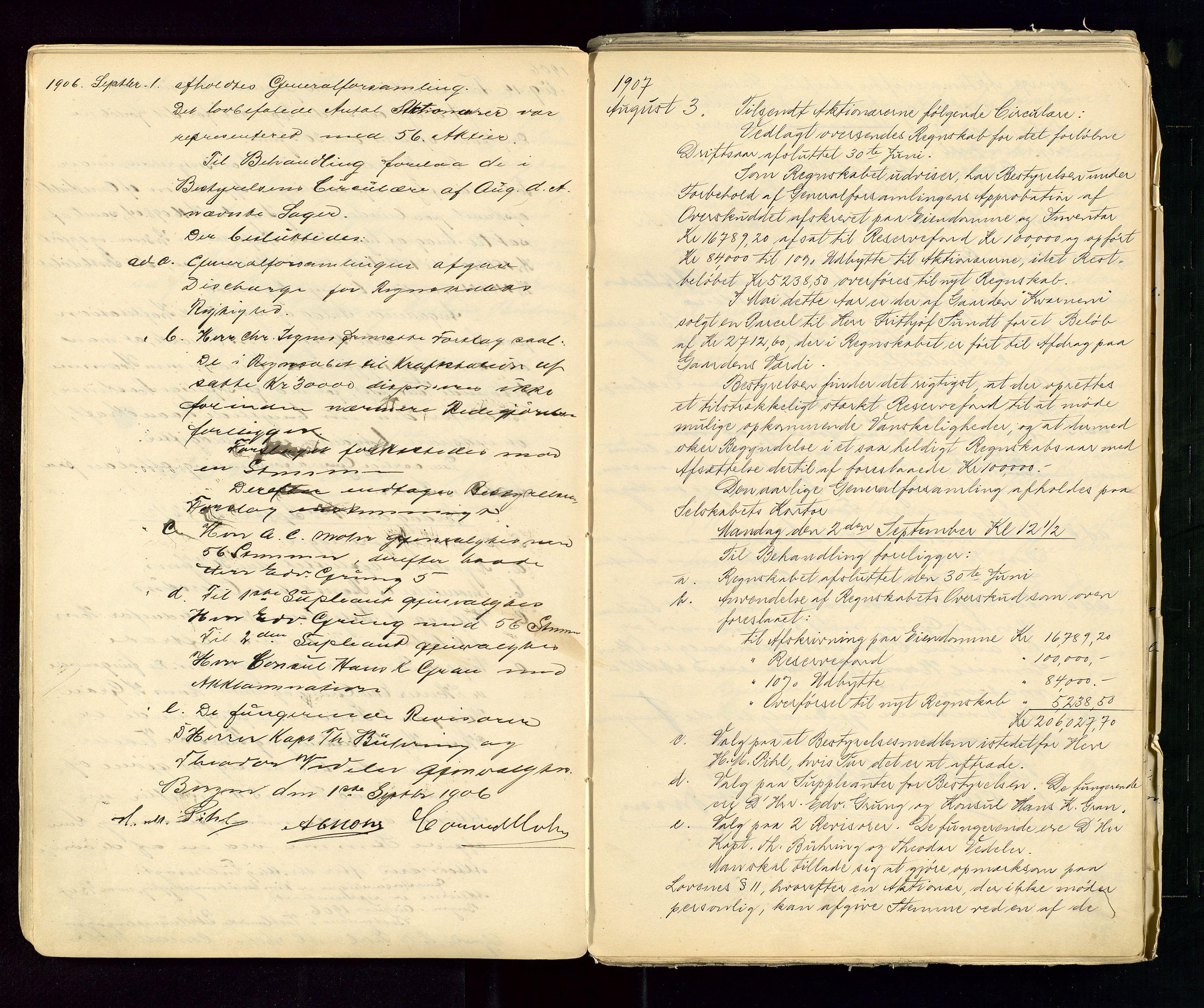 SAST, PA 1533 - A/S Vestlandske Petroleumscompani, A/Aa/L0001: Generalforsamlinger og styreprotokoller, 1890-1953, s. 32