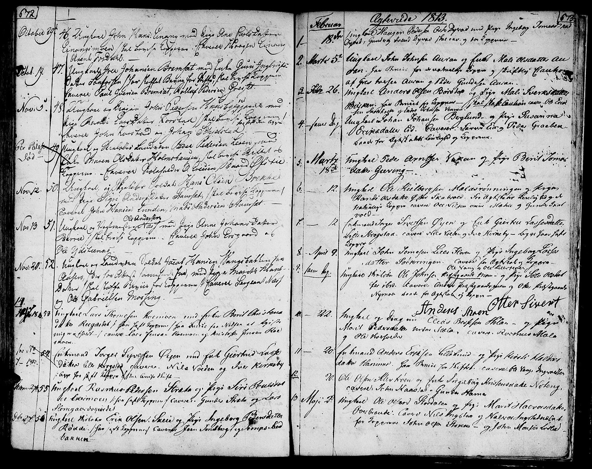 SAT, Ministerialprotokoller, klokkerbøker og fødselsregistre - Nord-Trøndelag, 709/L0060: Ministerialbok nr. 709A07, 1797-1815, s. 672-673