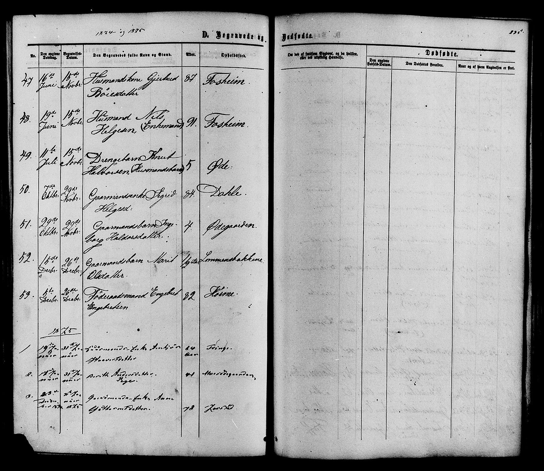 SAH, Vestre Slidre prestekontor, Ministerialbok nr. 3, 1865-1880, s. 235