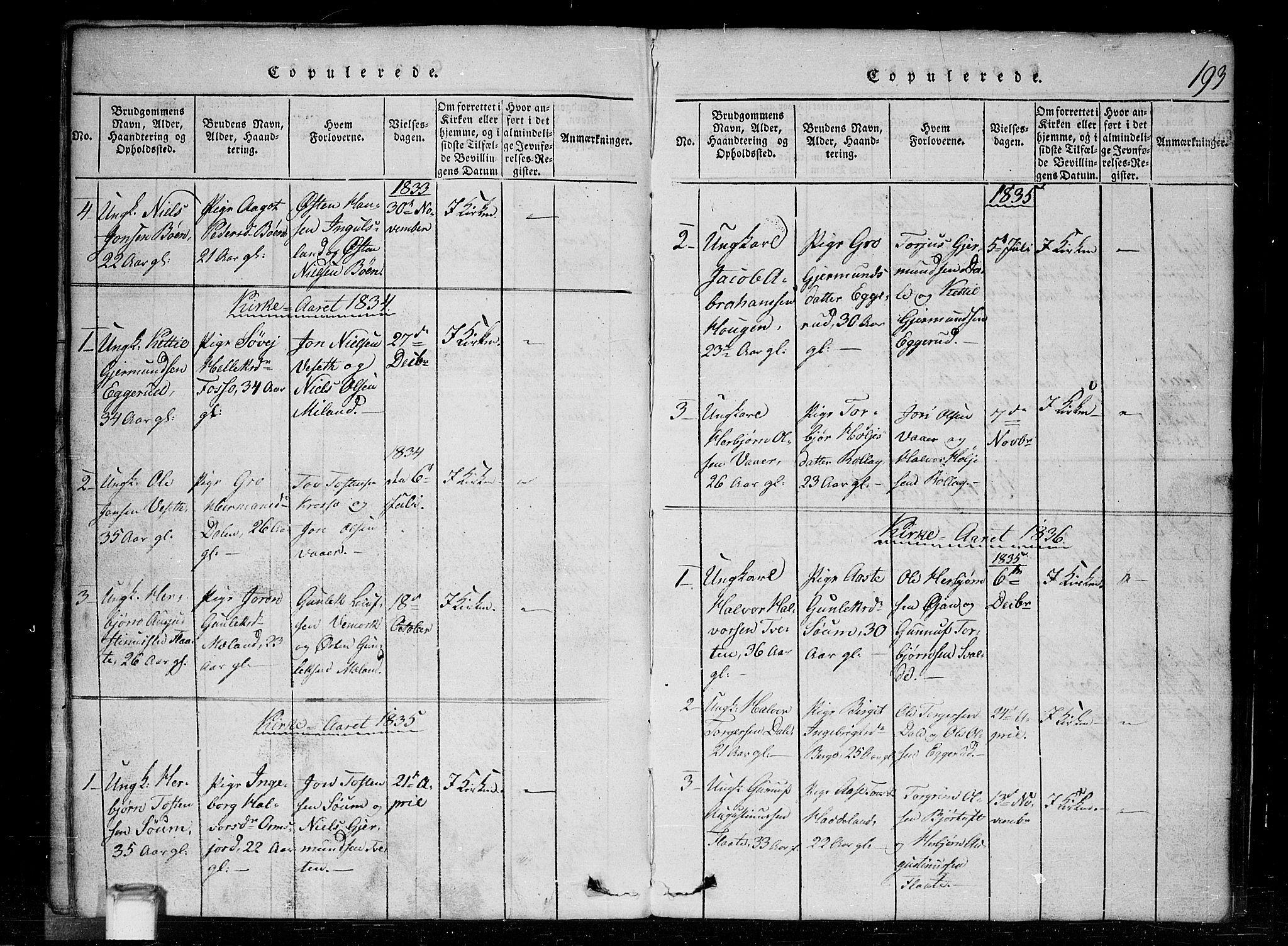 SAKO, Tinn kirkebøker, G/Gc/L0001: Klokkerbok nr. III 1, 1815-1879, s. 193