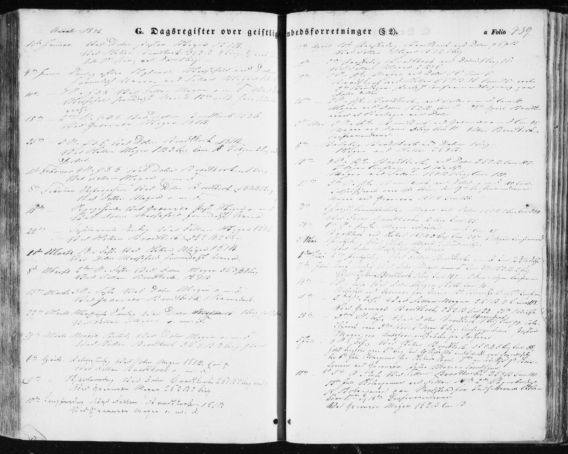 SAT, Ministerialprotokoller, klokkerbøker og fødselsregistre - Sør-Trøndelag, 634/L0529: Ministerialbok nr. 634A05, 1843-1851, s. 439