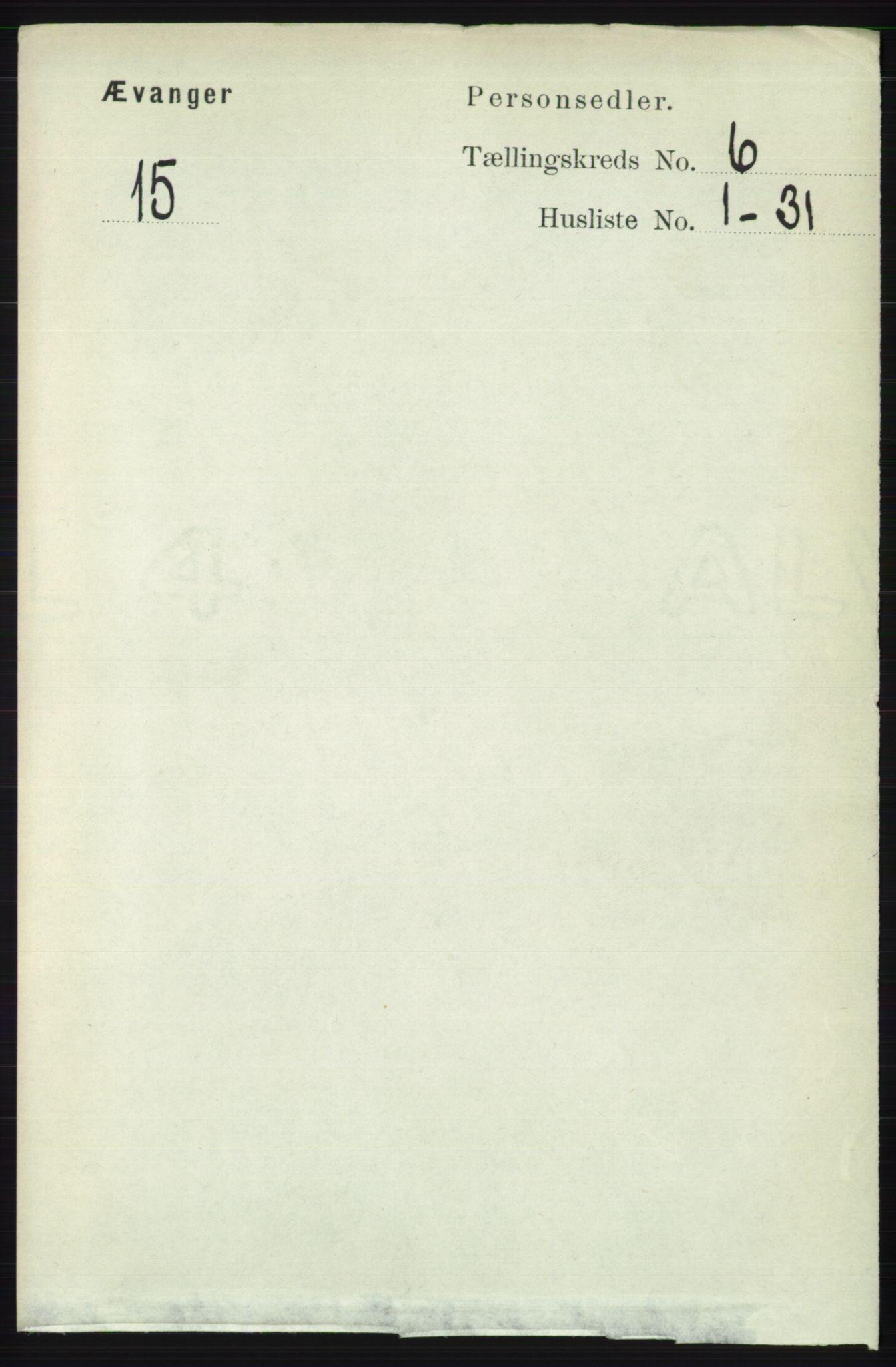 RA, Folketelling 1891 for 1237 Evanger herred, 1891, s. 1611