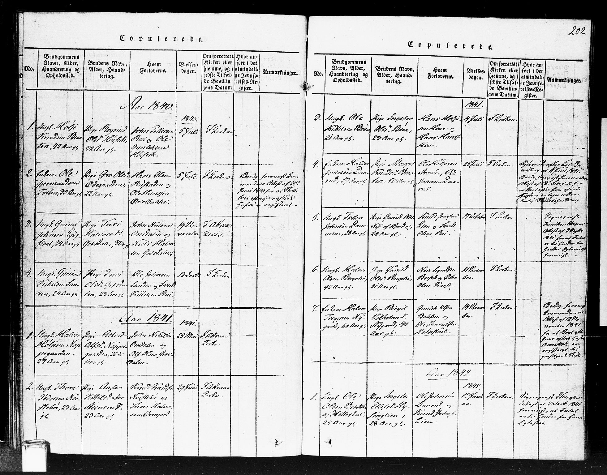 SAKO, Gransherad kirkebøker, F/Fb/L0002: Ministerialbok nr. II 2, 1815-1843, s. 202