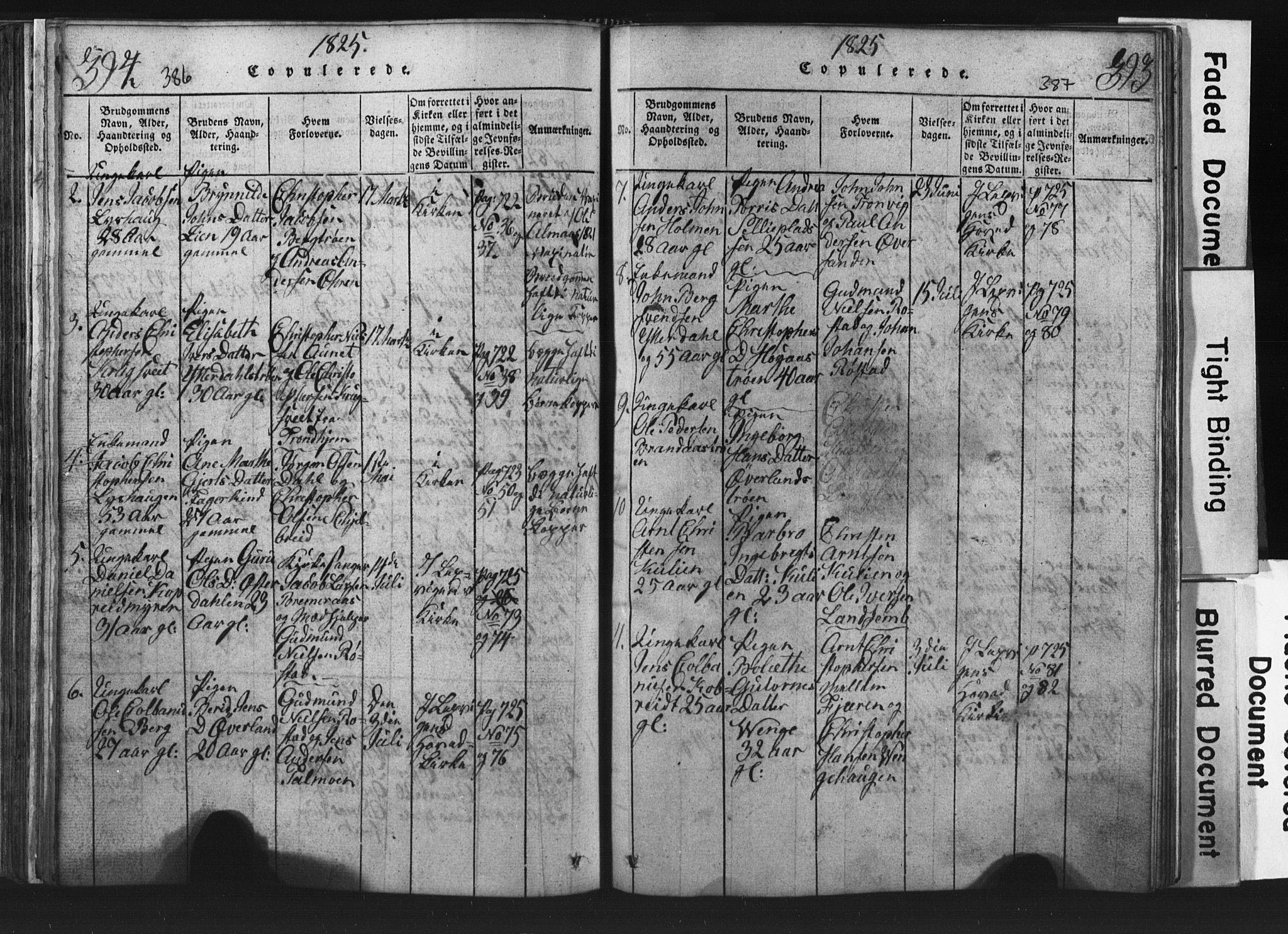 SAT, Ministerialprotokoller, klokkerbøker og fødselsregistre - Nord-Trøndelag, 701/L0017: Klokkerbok nr. 701C01, 1817-1825, s. 386-387