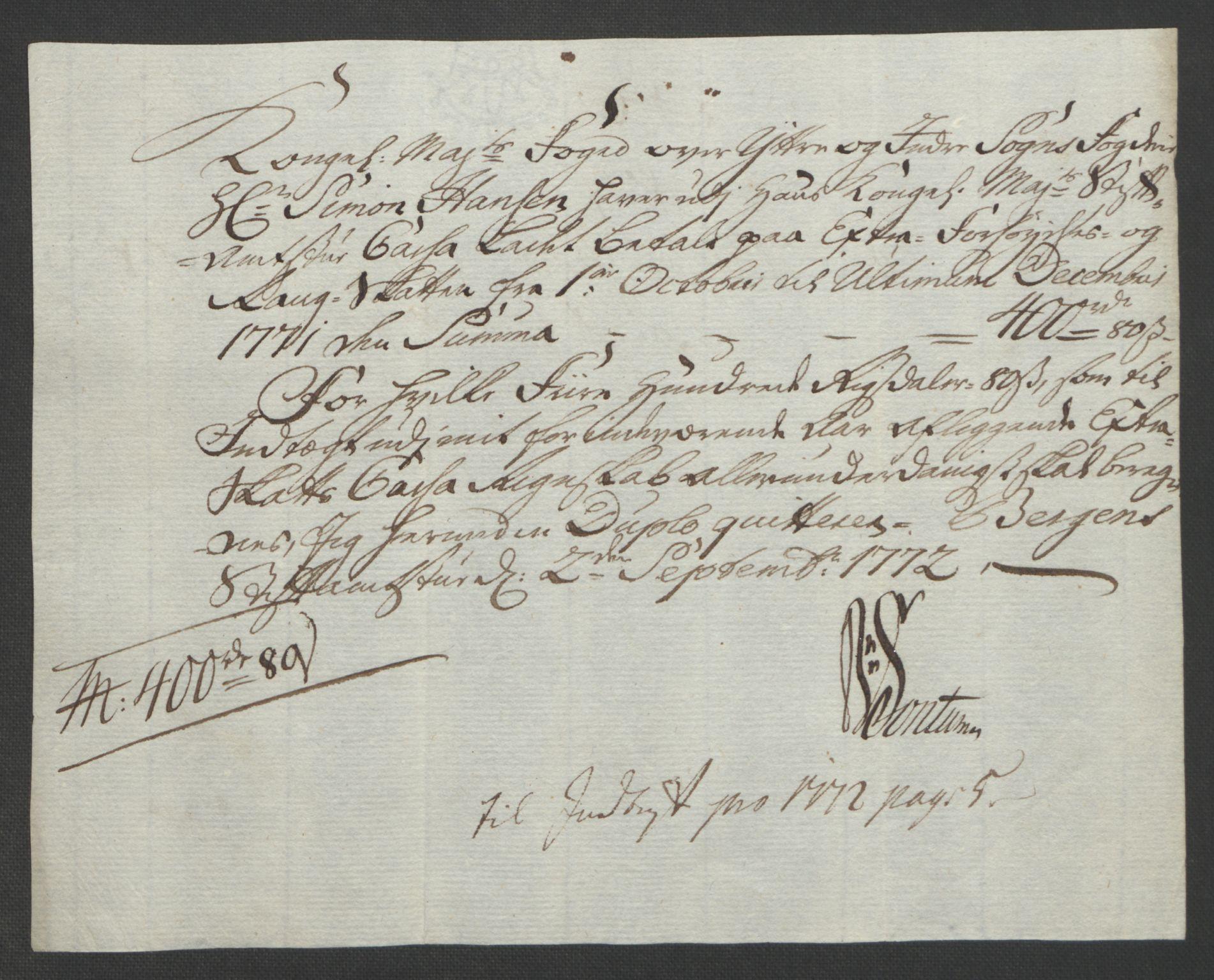 RA, Rentekammeret inntil 1814, Realistisk ordnet avdeling, Ol/L0018: [Gg 10]: Ekstraskatten, 23.09.1762. Sogn, 1762-1772, s. 385