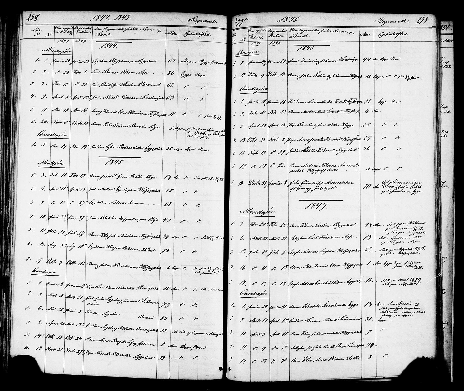 SAT, Ministerialprotokoller, klokkerbøker og fødselsregistre - Nord-Trøndelag, 739/L0367: Ministerialbok nr. 739A01 /3, 1838-1868, s. 298-299