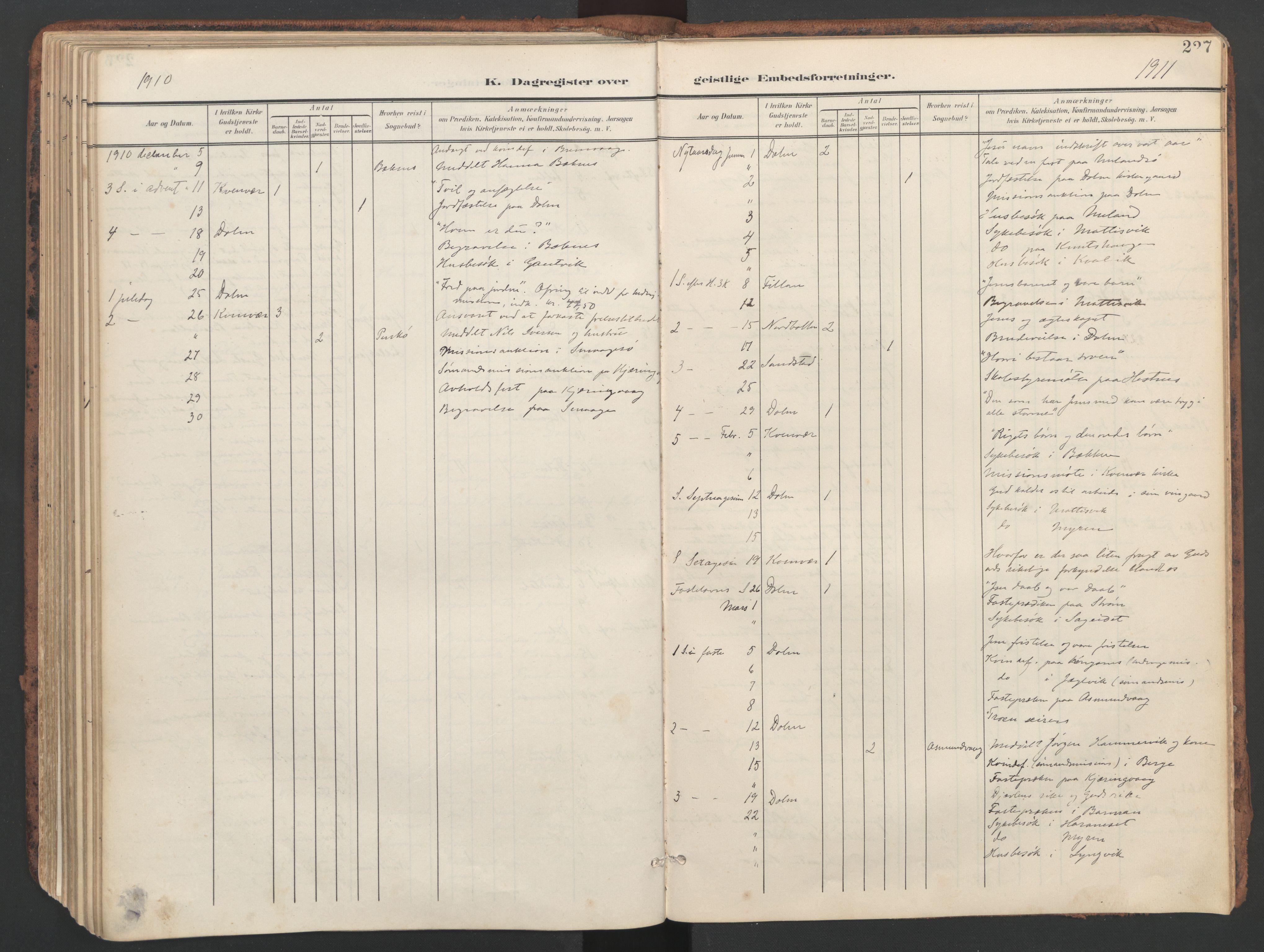 SAT, Ministerialprotokoller, klokkerbøker og fødselsregistre - Sør-Trøndelag, 634/L0537: Ministerialbok nr. 634A13, 1896-1922, s. 227