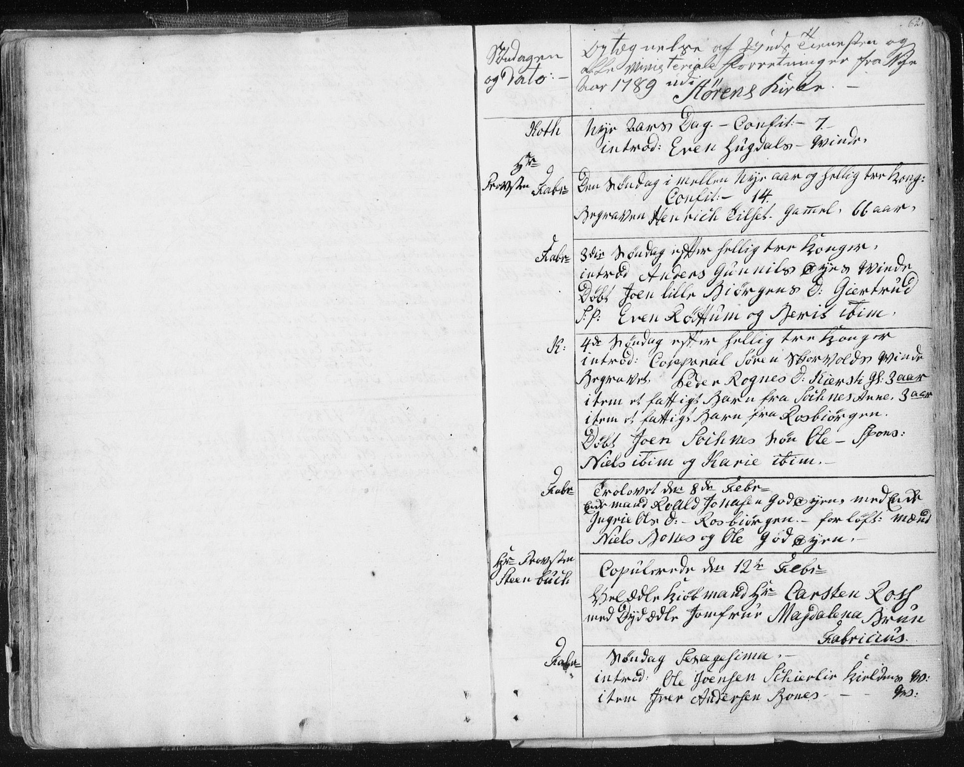 SAT, Ministerialprotokoller, klokkerbøker og fødselsregistre - Sør-Trøndelag, 687/L0991: Ministerialbok nr. 687A02, 1747-1790, s. 62