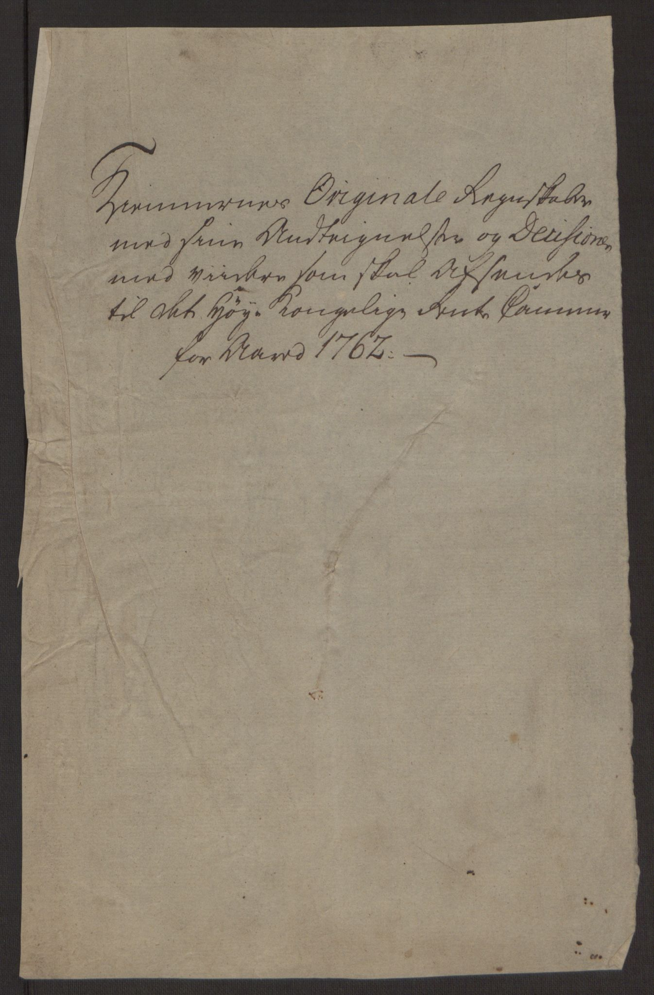 RA, Rentekammeret inntil 1814, Reviderte regnskaper, Byregnskaper, R/Rp/L0365: [P20] Kontribusjonsregnskap, 1762, s. 10