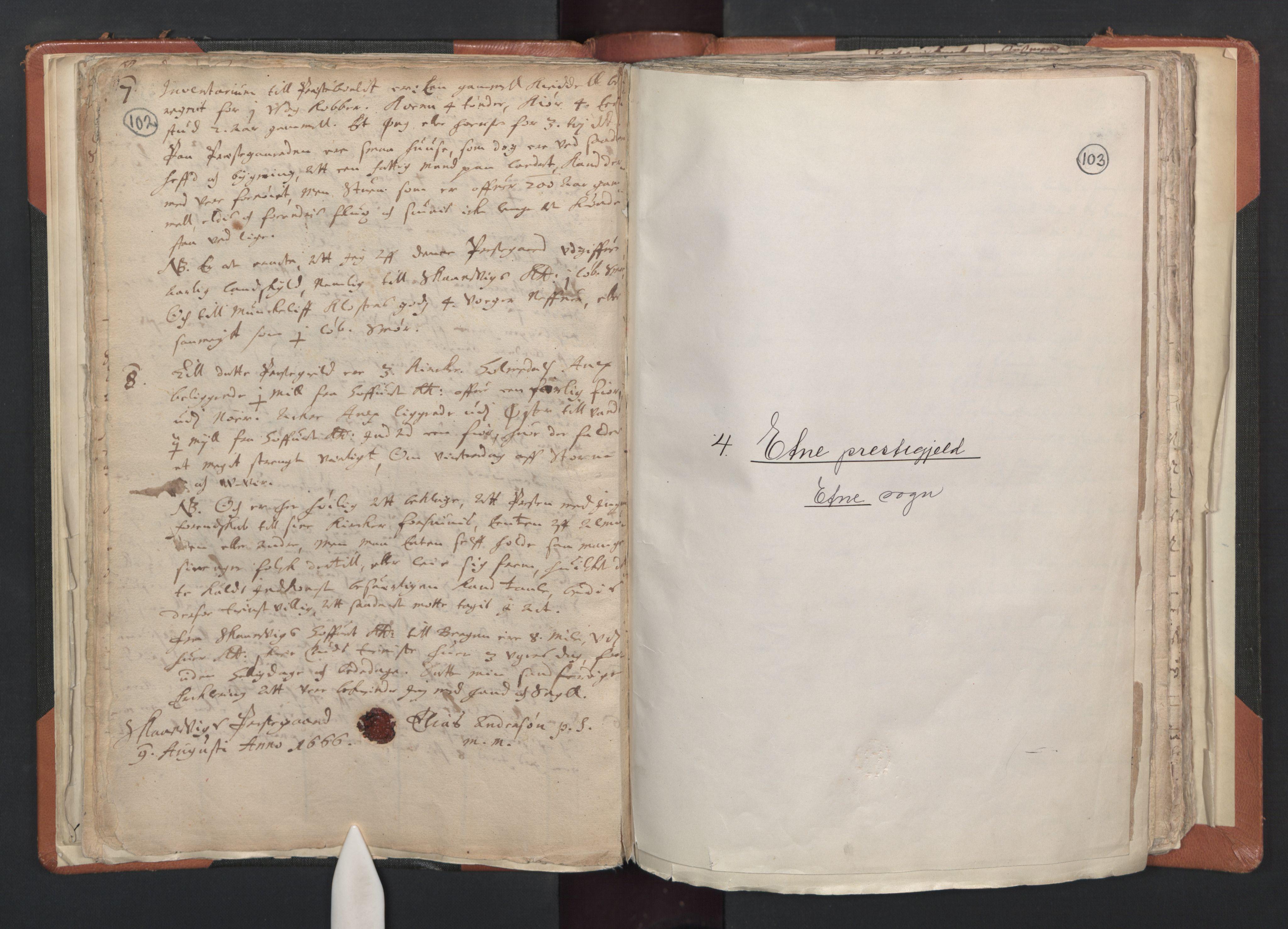 RA, Sogneprestenes manntall 1664-1666, nr. 20: Sunnhordland prosti, 1664-1666, s. 102-103