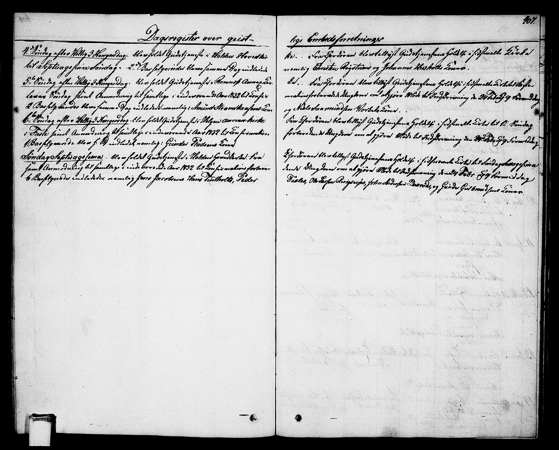 SAKO, Holla kirkebøker, G/Ga/L0002: Klokkerbok nr. I 2, 1830-1848, s. 407