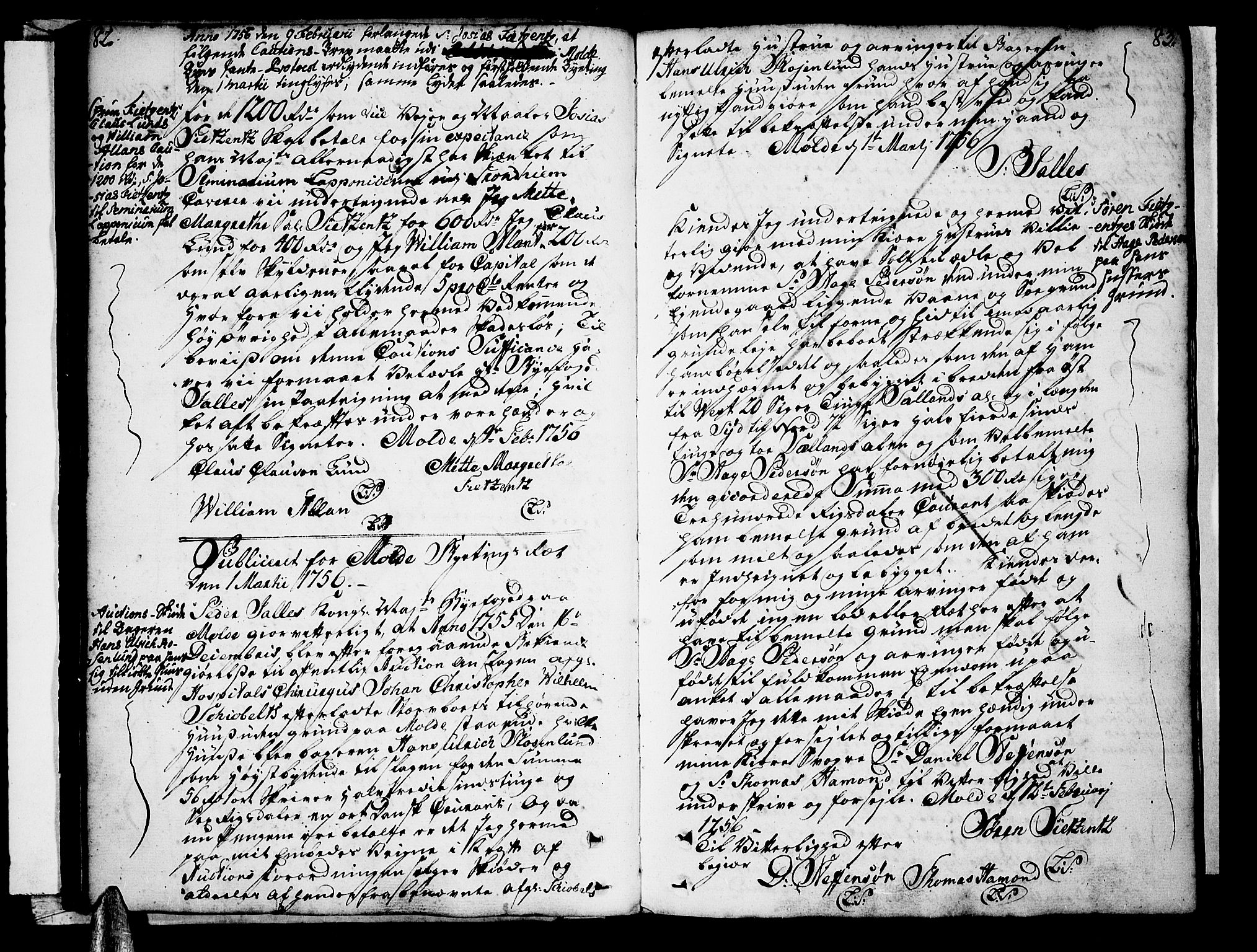 SAT, Molde byfogd, 2/2C/L0001: Pantebok nr. 1, 1748-1823, s. 82-83