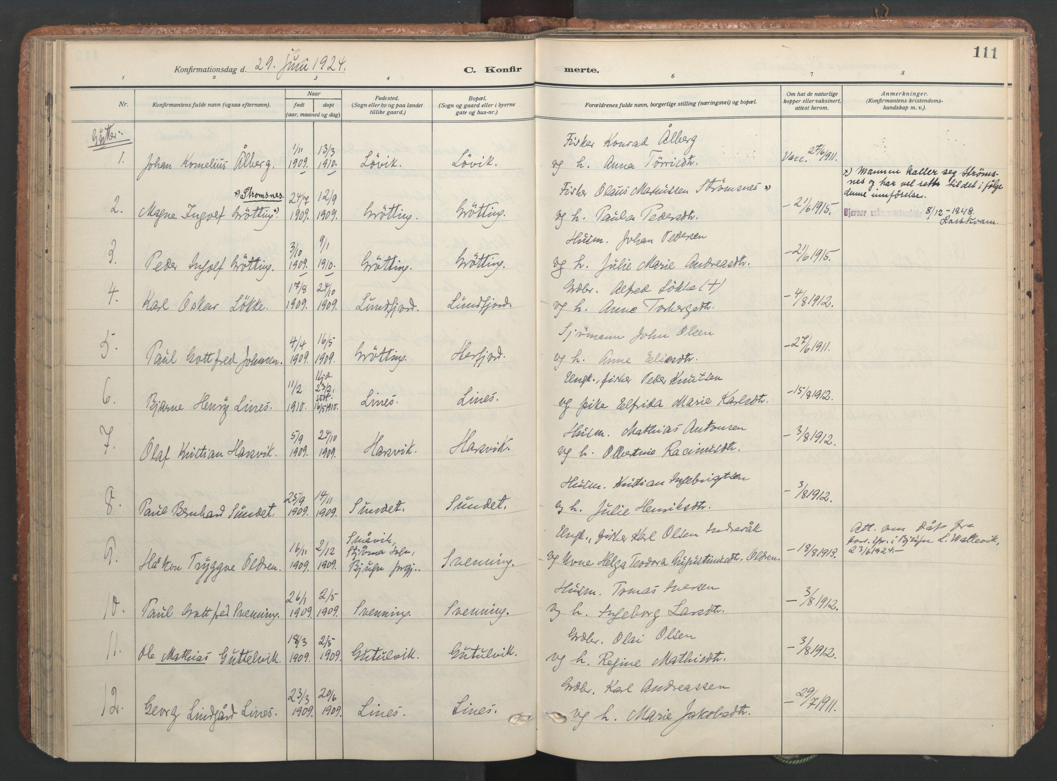 SAT, Ministerialprotokoller, klokkerbøker og fødselsregistre - Sør-Trøndelag, 656/L0694: Ministerialbok nr. 656A03, 1914-1931, s. 111