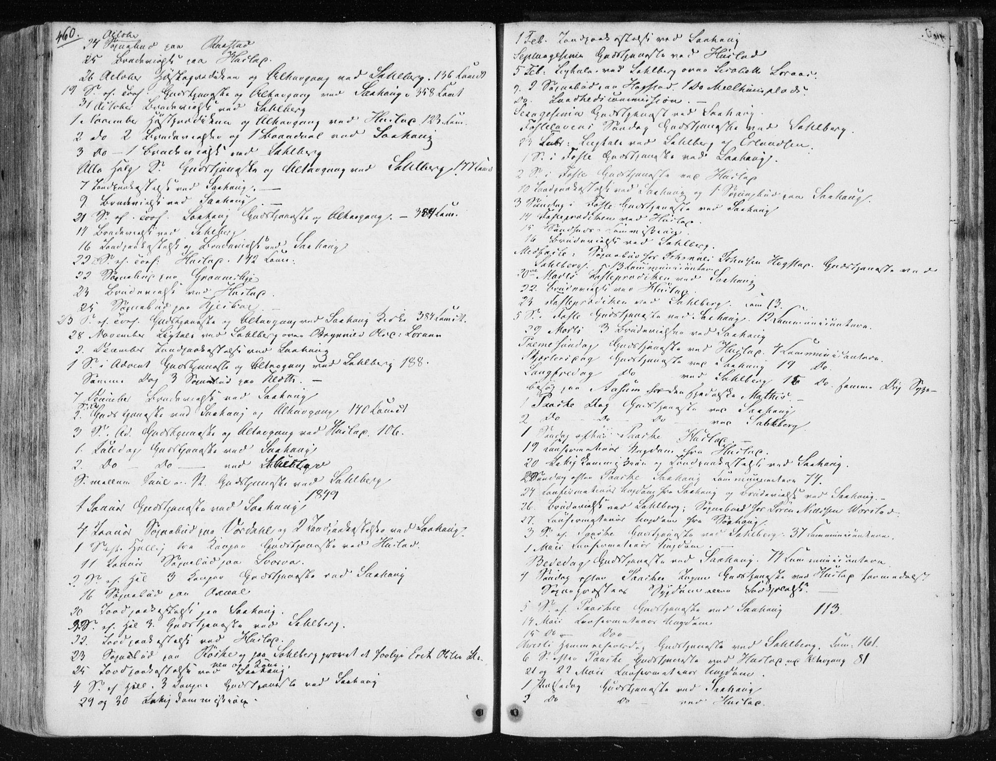 SAT, Ministerialprotokoller, klokkerbøker og fødselsregistre - Nord-Trøndelag, 730/L0280: Ministerialbok nr. 730A07 /1, 1840-1854, s. 460