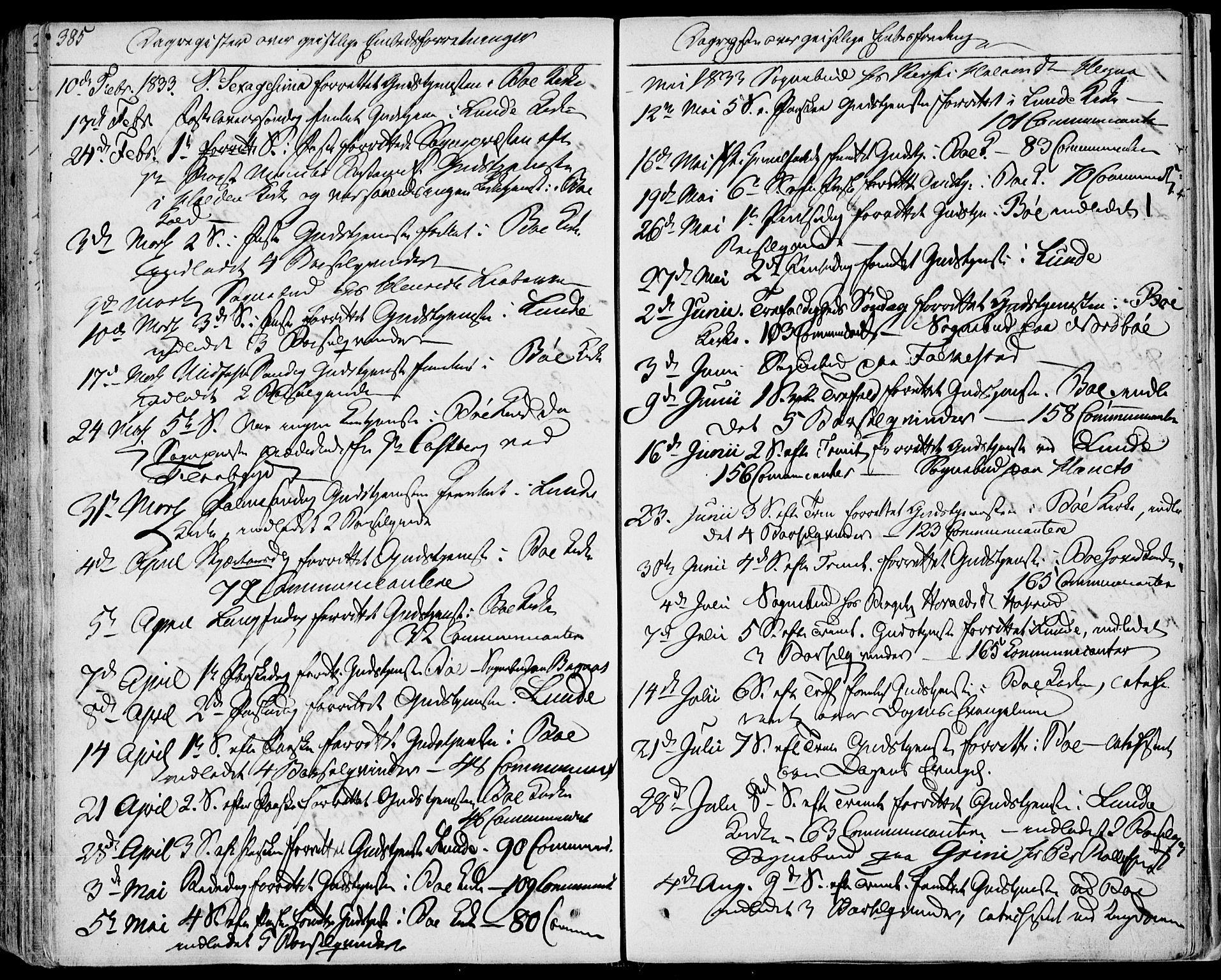 SAKO, Bø kirkebøker, F/Fa/L0007: Ministerialbok nr. 7, 1831-1848, s. 385