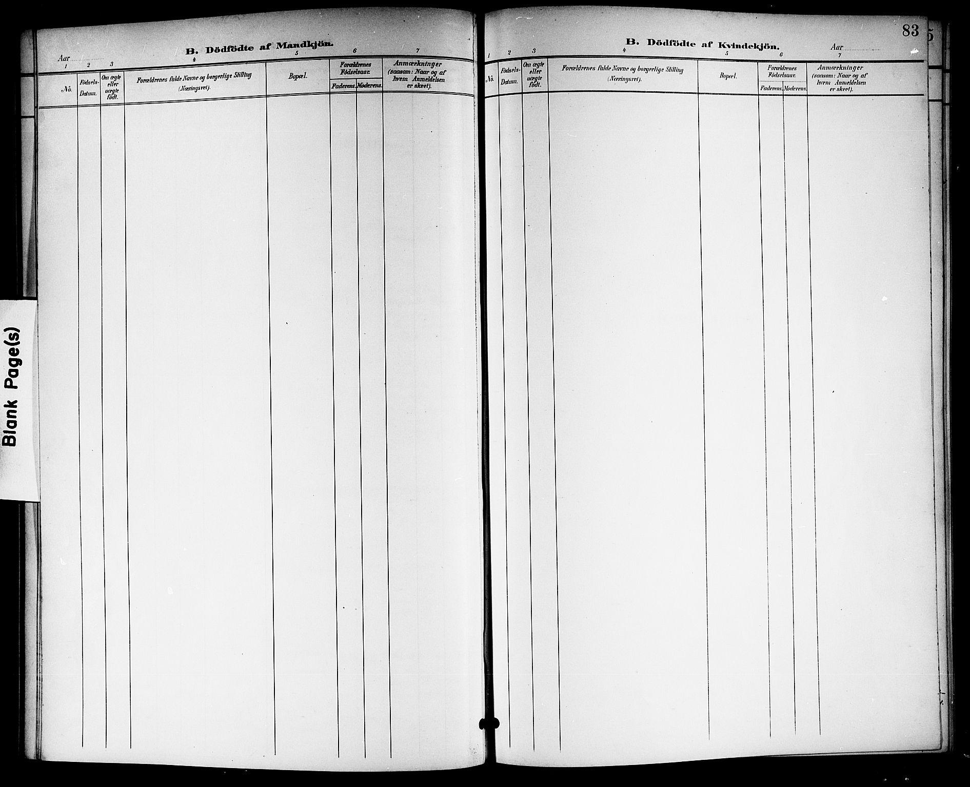 SAKO, Langesund kirkebøker, G/Ga/L0006: Klokkerbok nr. 6, 1899-1918, s. 83