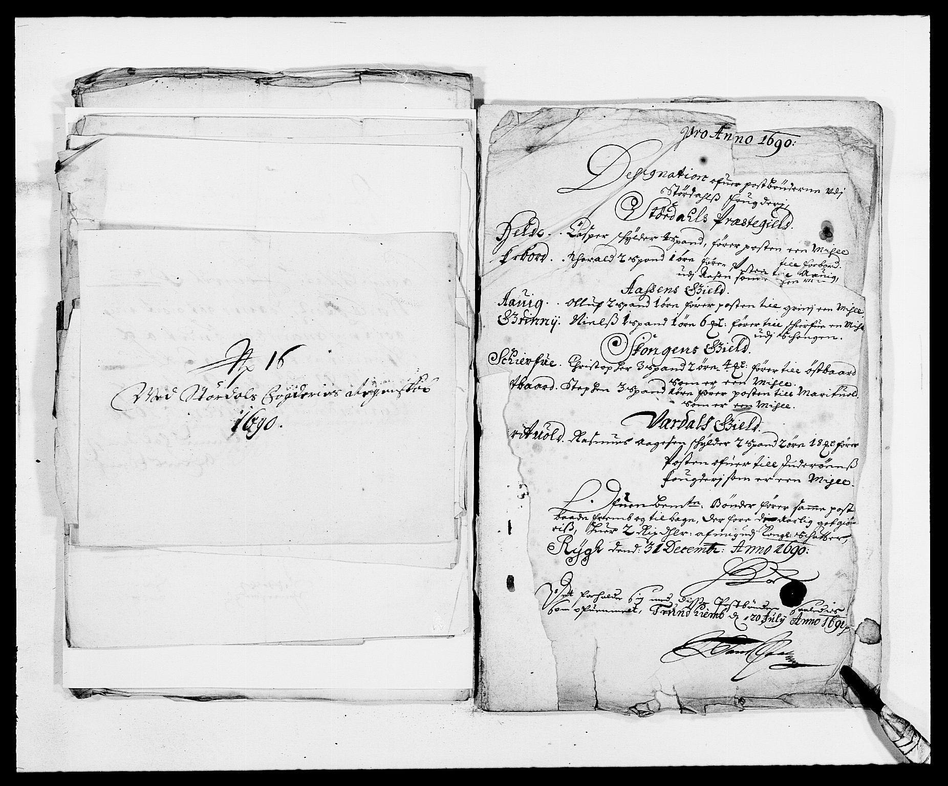 RA, Rentekammeret inntil 1814, Reviderte regnskaper, Fogderegnskap, R62/L4184: Fogderegnskap Stjørdal og Verdal, 1690-1691, s. 207