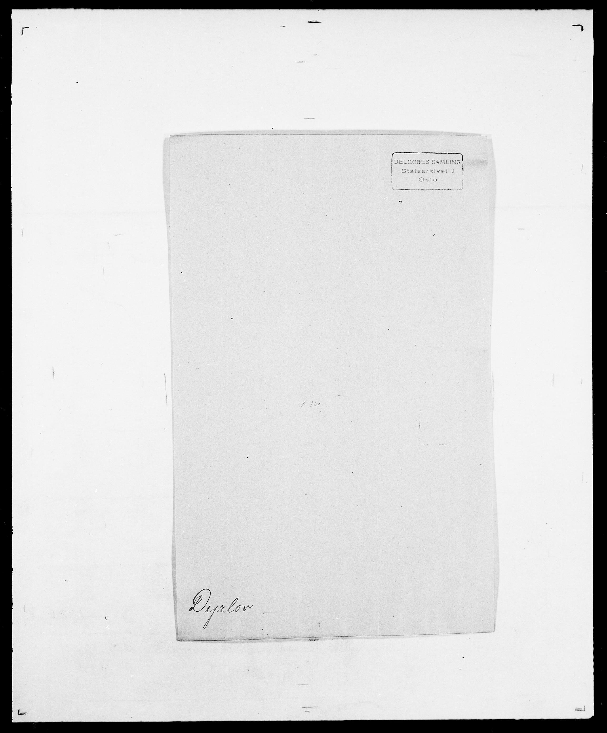 SAO, Delgobe, Charles Antoine - samling, D/Da/L0010: Dürendahl - Fagelund, s. 19