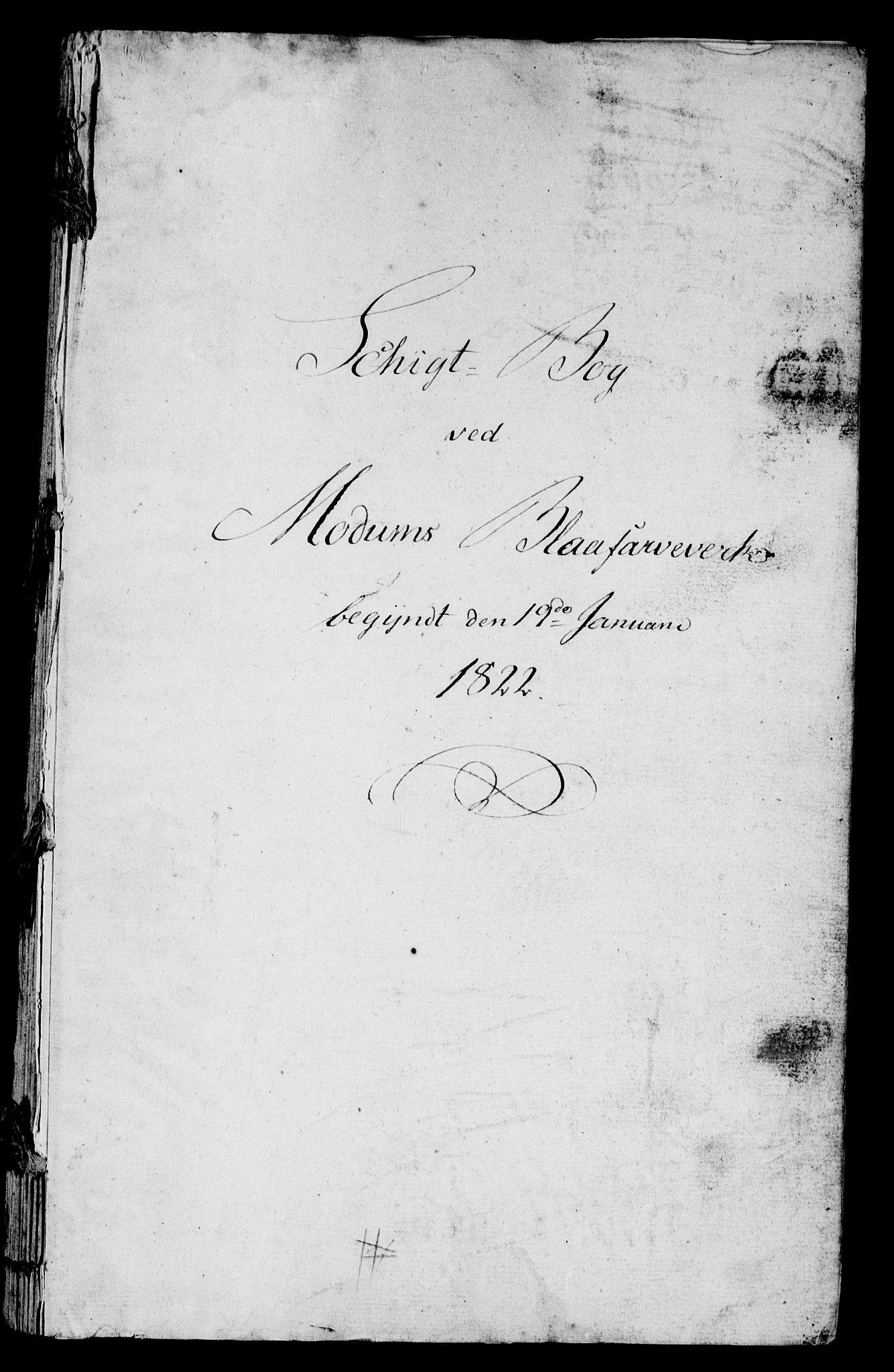 RA, Modums Blaafarveværk, G/Gd/Gdb/L0204: Schigt-Bog ved Modums Blaafarveverk (Regning over utgiftene ved farveverket), 1822-1825, s. 2