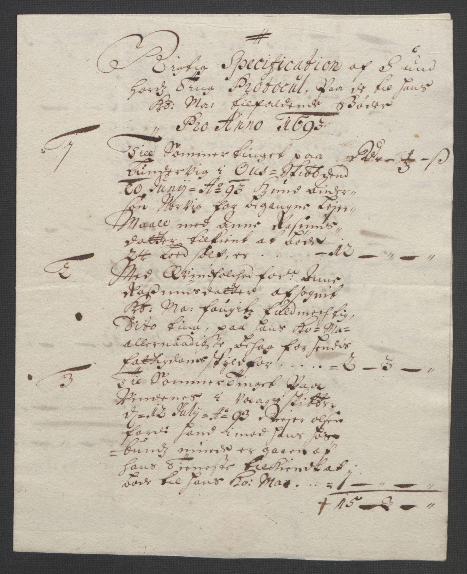 RA, Rentekammeret inntil 1814, Reviderte regnskaper, Fogderegnskap, R48/L2974: Fogderegnskap Sunnhordland og Hardanger, 1693, s. 99