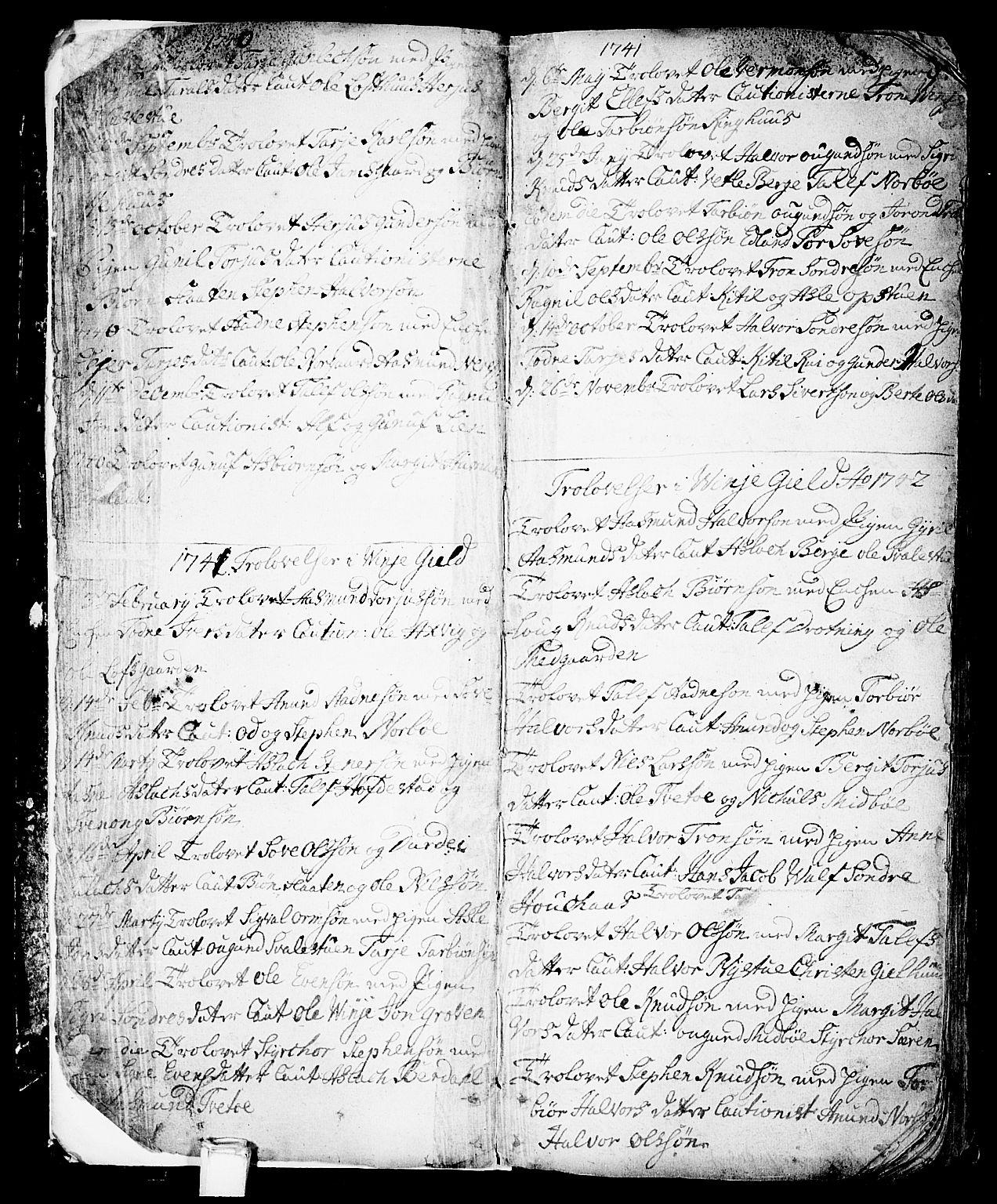 SAKO, Vinje kirkebøker, F/Fa/L0001: Ministerialbok nr. I 1, 1717-1766, s. 8