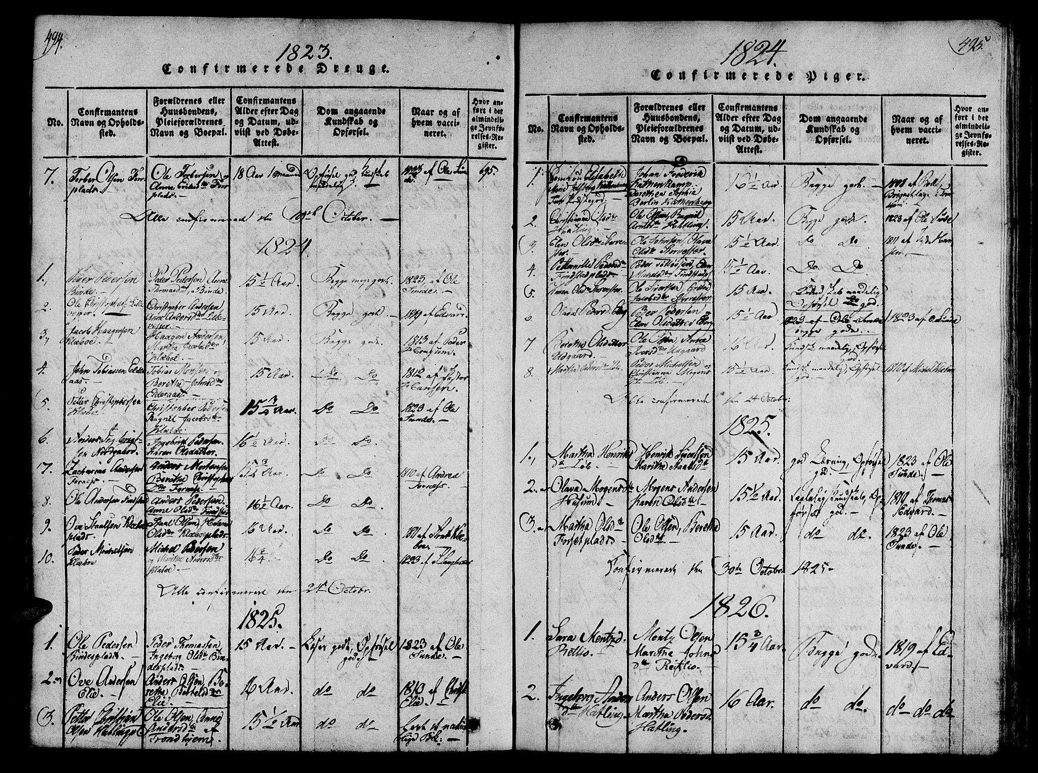 SAT, Ministerialprotokoller, klokkerbøker og fødselsregistre - Nord-Trøndelag, 746/L0441: Ministerialbok nr. 746A03 /1, 1816-1827, s. 494-495