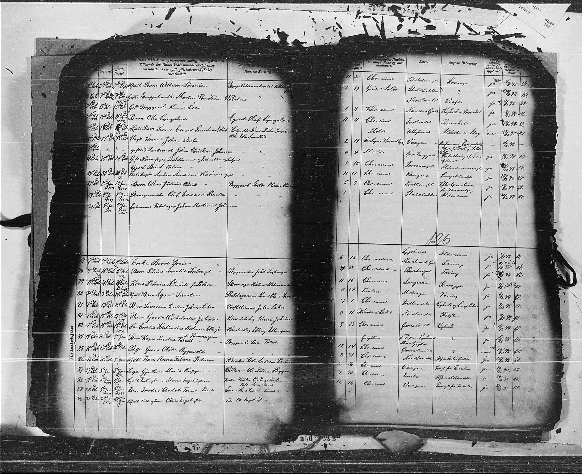SAT, Ministerialprotokoller, klokkerbøker og fødselsregistre - Møre og Romsdal, 572/L0853: Ministerialbok nr. 572A16, 1880-1901, s. 126
