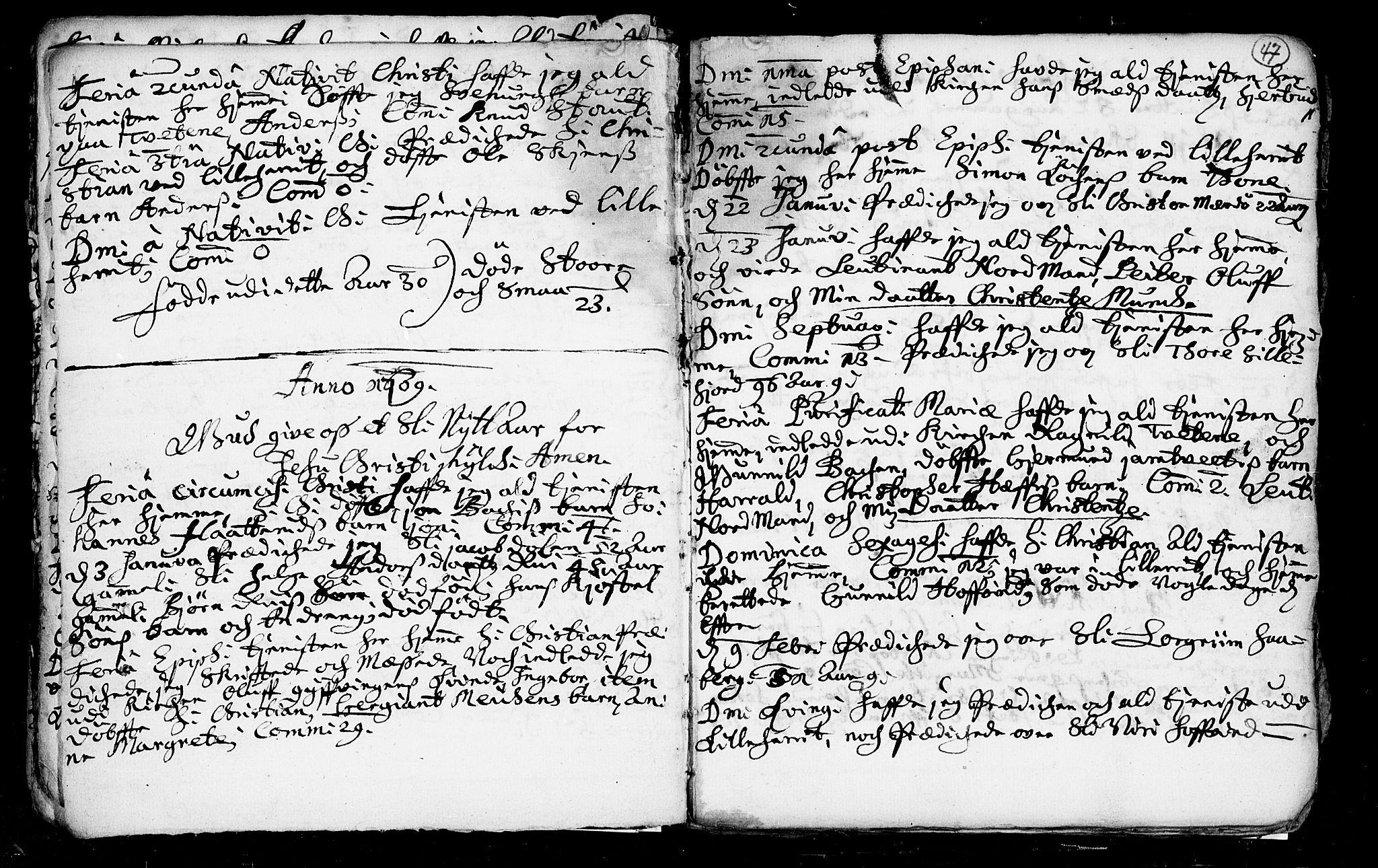 SAKO, Heddal kirkebøker, F/Fa/L0002: Ministerialbok nr. I 2, 1699-1722, s. 47