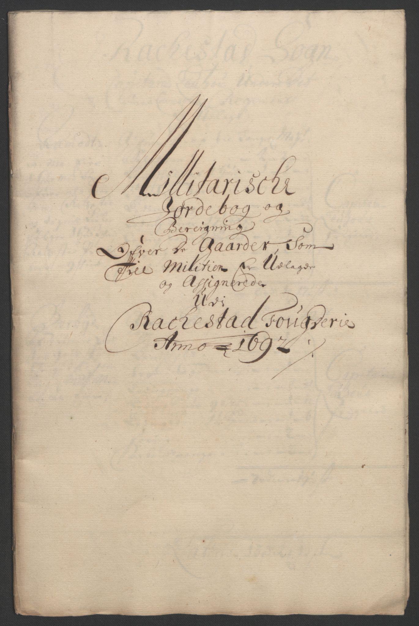 RA, Rentekammeret inntil 1814, Reviderte regnskaper, Fogderegnskap, R05/L0278: Fogderegnskap Rakkestad, 1691-1693, s. 311