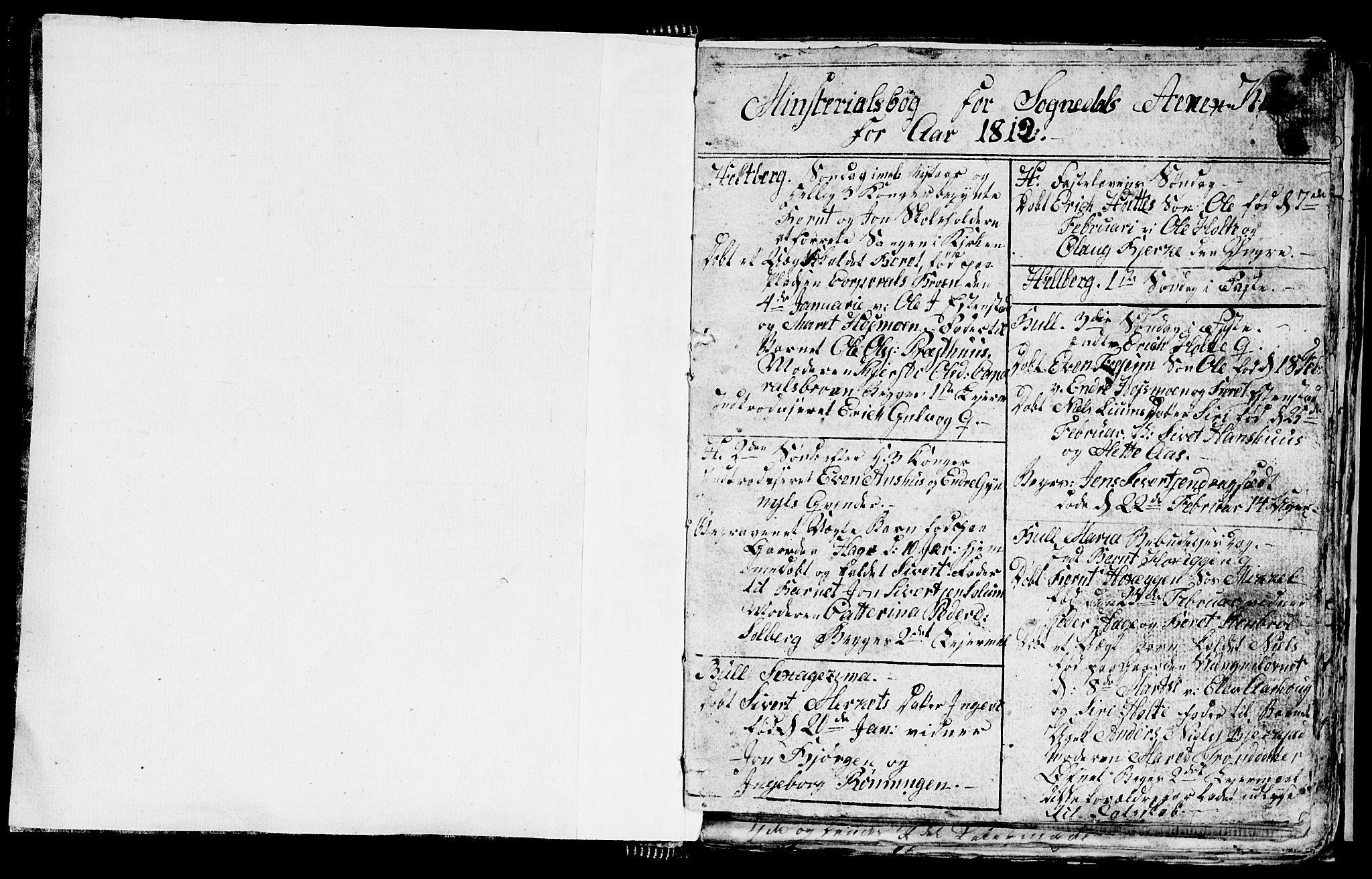 SAT, Ministerialprotokoller, klokkerbøker og fødselsregistre - Sør-Trøndelag, 689/L1042: Klokkerbok nr. 689C01, 1812-1841, s. 0-1