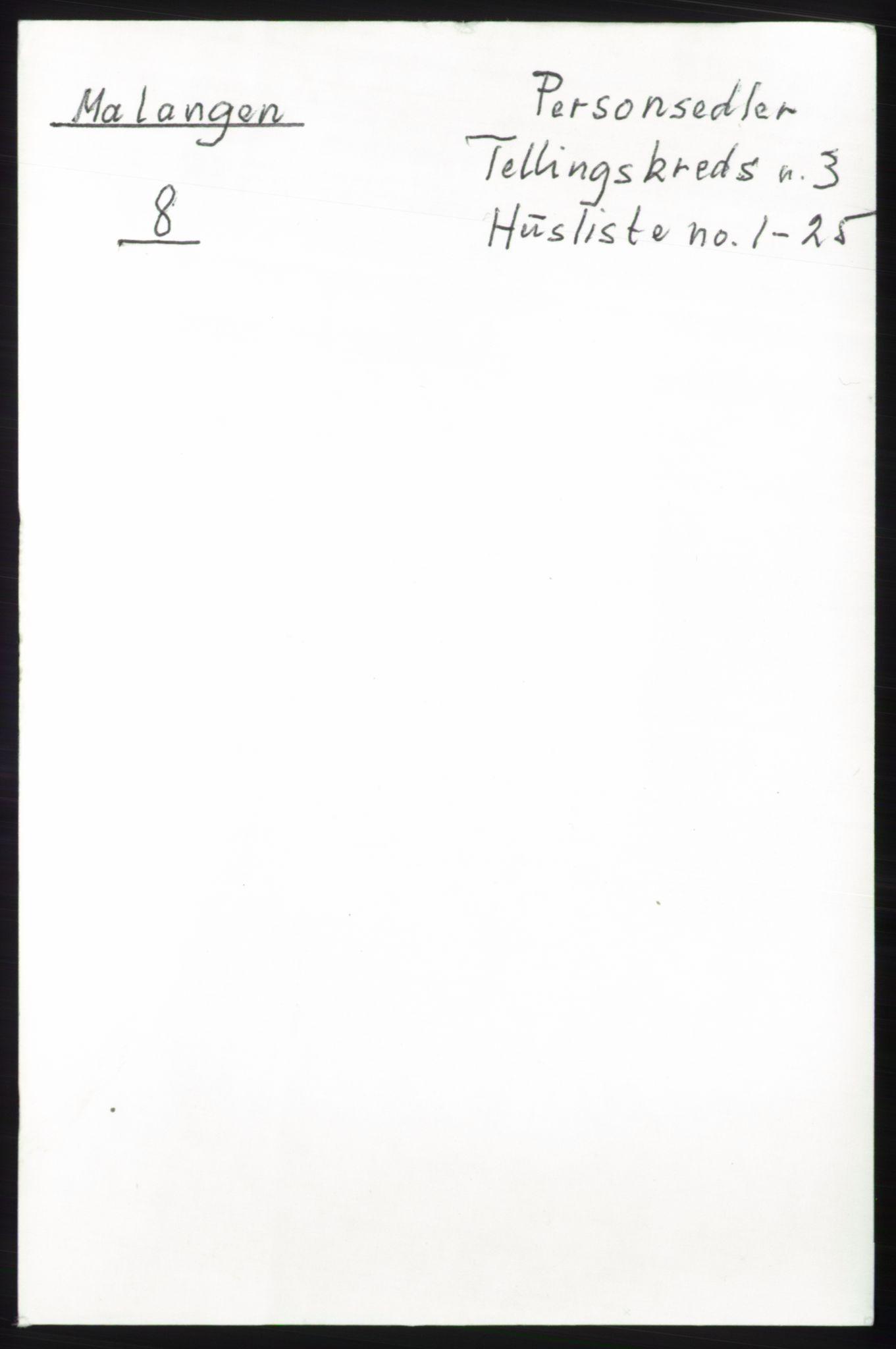 RA, Folketelling 1891 for 1932 Malangen herred, 1891, s. 733