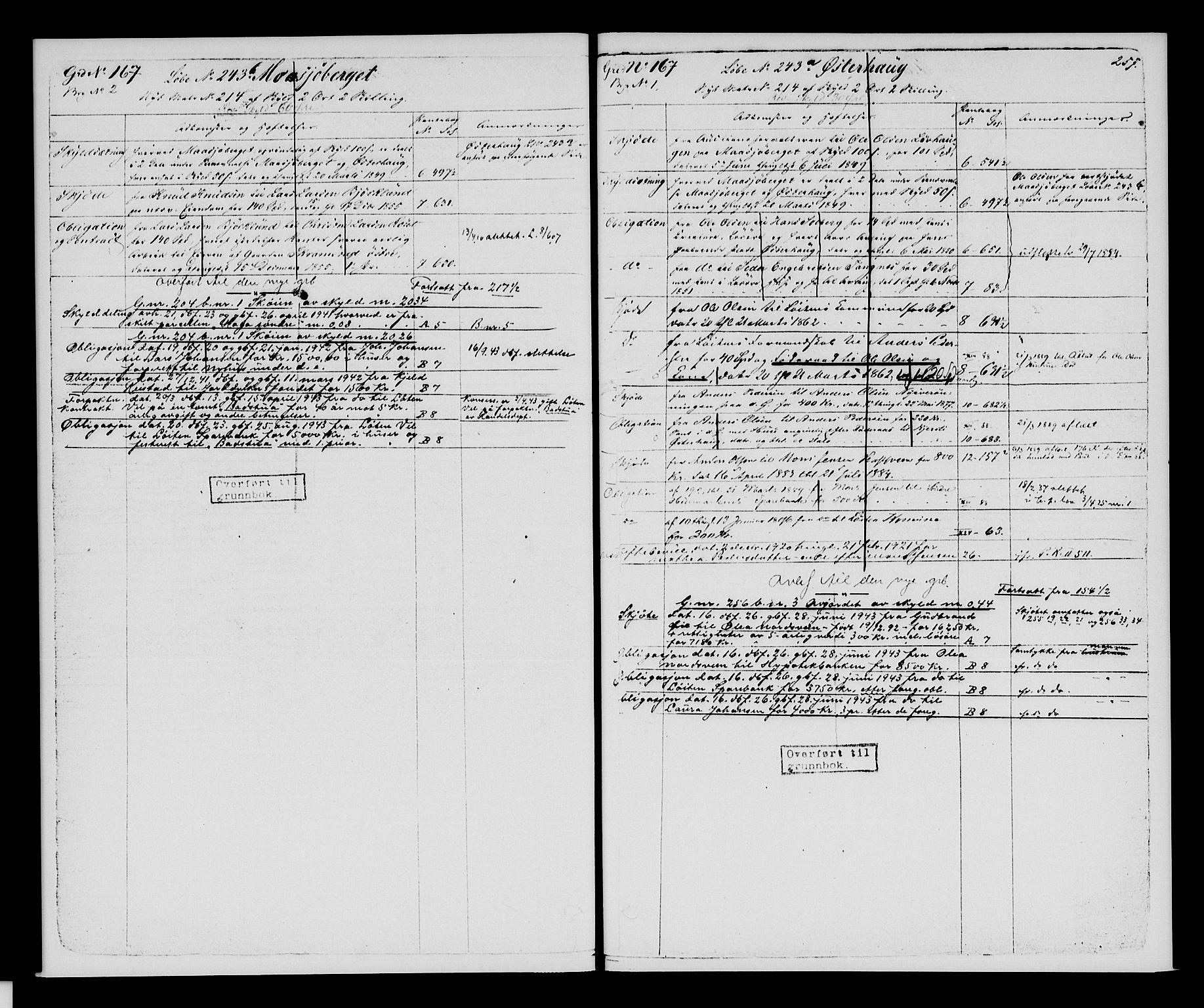 SAH, Sør-Hedmark sorenskriveri, H/Ha/Hac/Hacc/L0001: Panteregister nr. 3.1, 1855-1943, s. 257