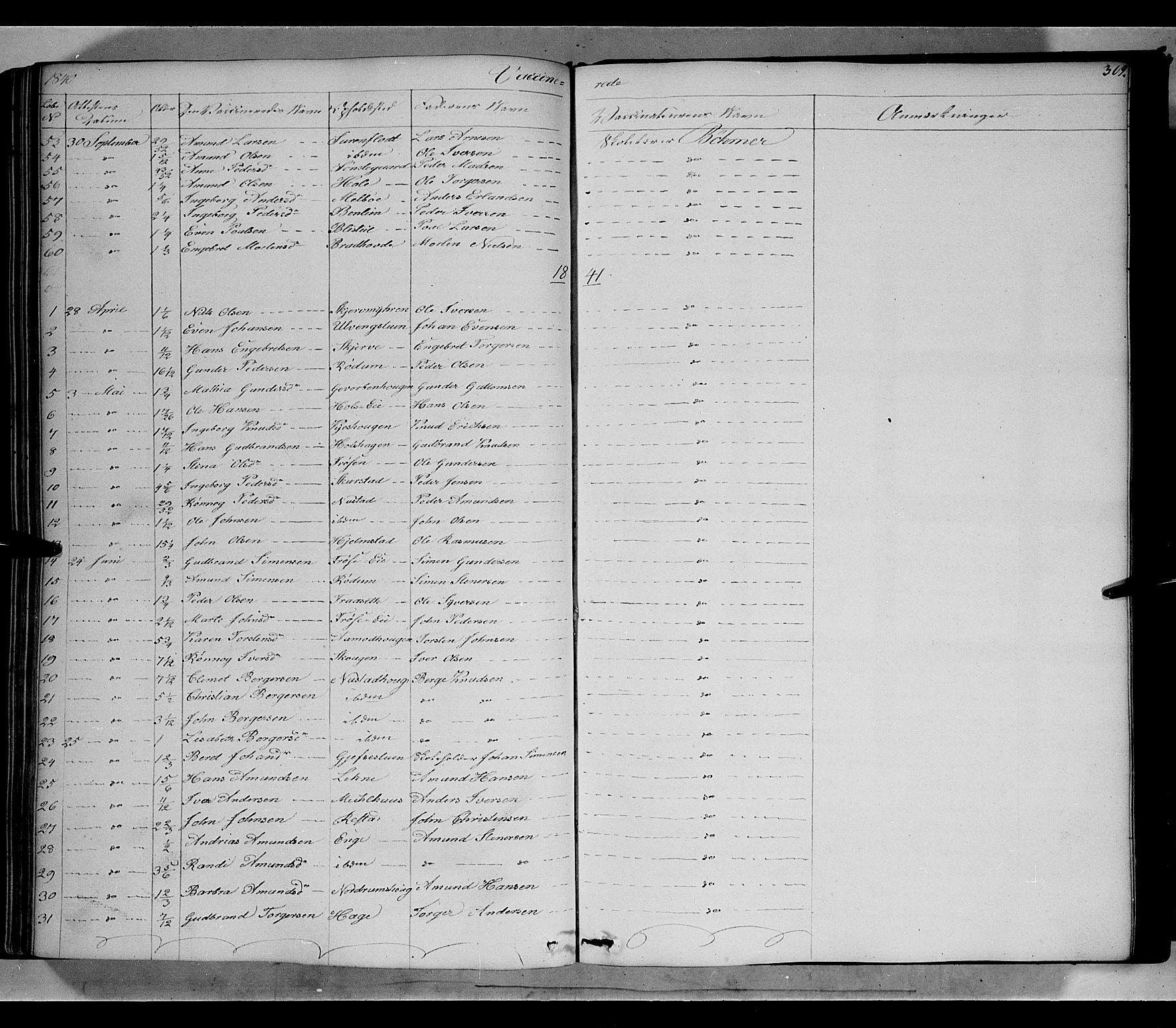 SAH, Gausdal prestekontor, Ministerialbok nr. 7, 1840-1850, s. 309