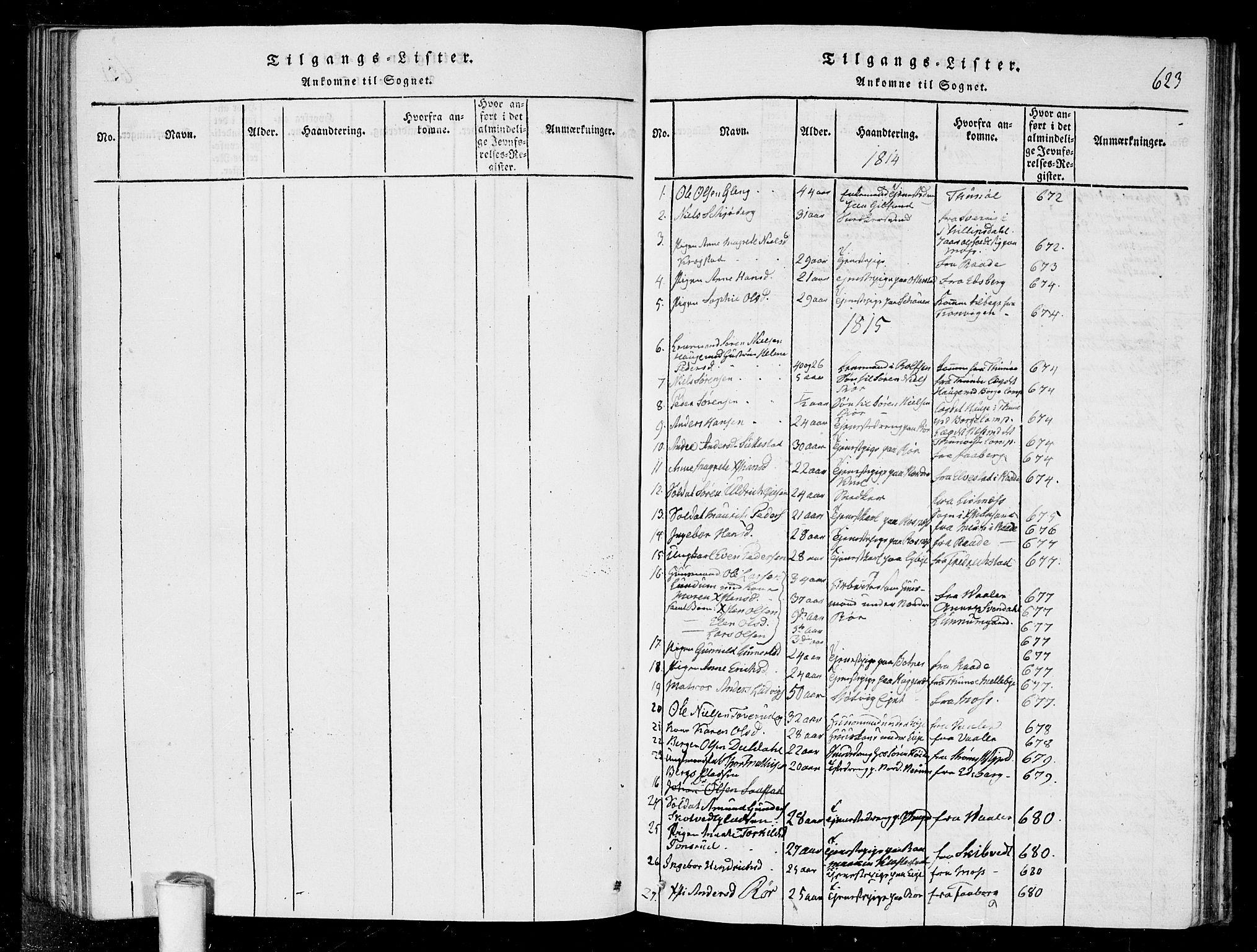 SAO, Rygge prestekontor Kirkebøker, G/Ga/L0001: Klokkerbok nr. 1, 1814-1871, s. 622-623