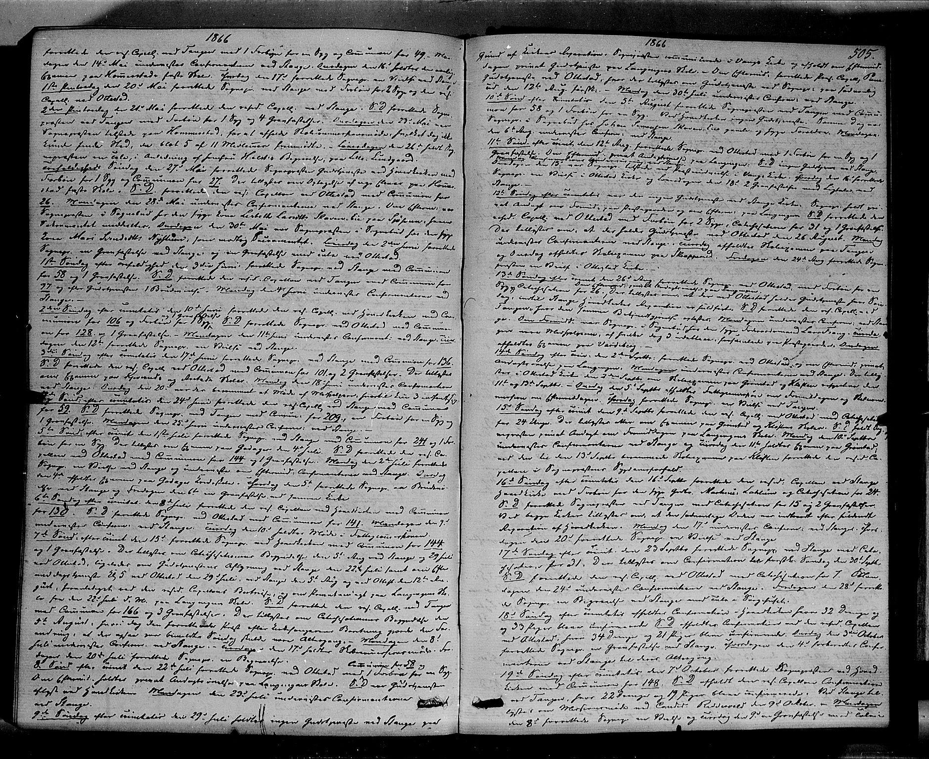 SAH, Stange prestekontor, K/L0013: Ministerialbok nr. 13, 1862-1879, s. 505