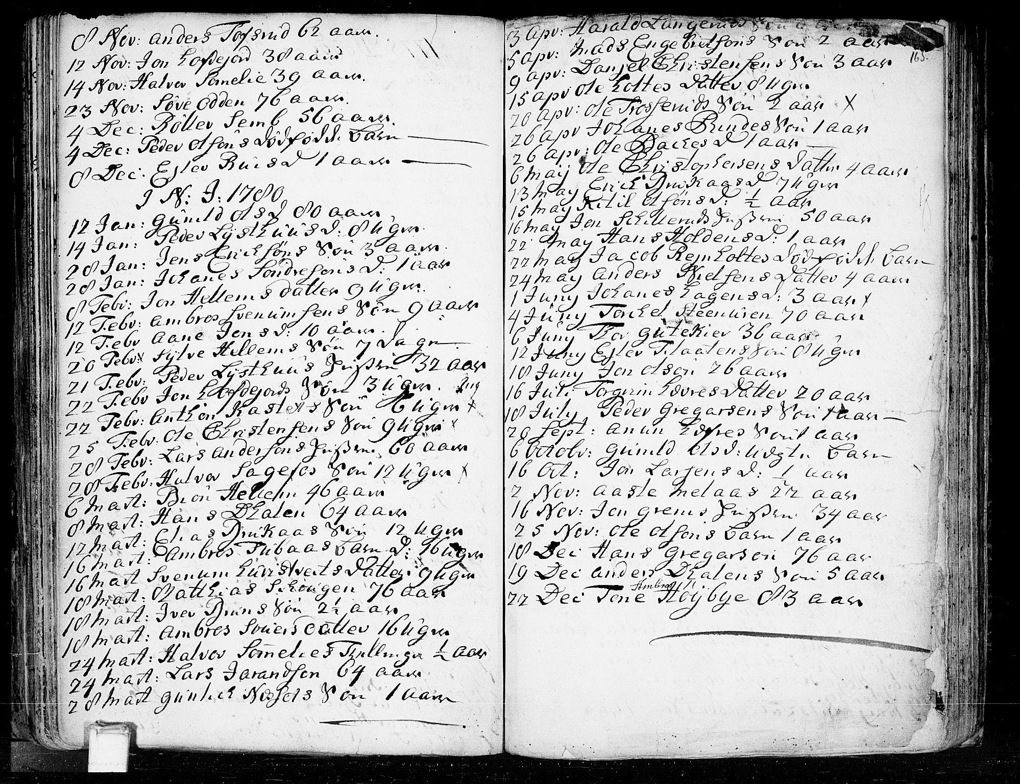 SAKO, Heddal kirkebøker, F/Fa/L0003: Ministerialbok nr. I 3, 1723-1783, s. 165