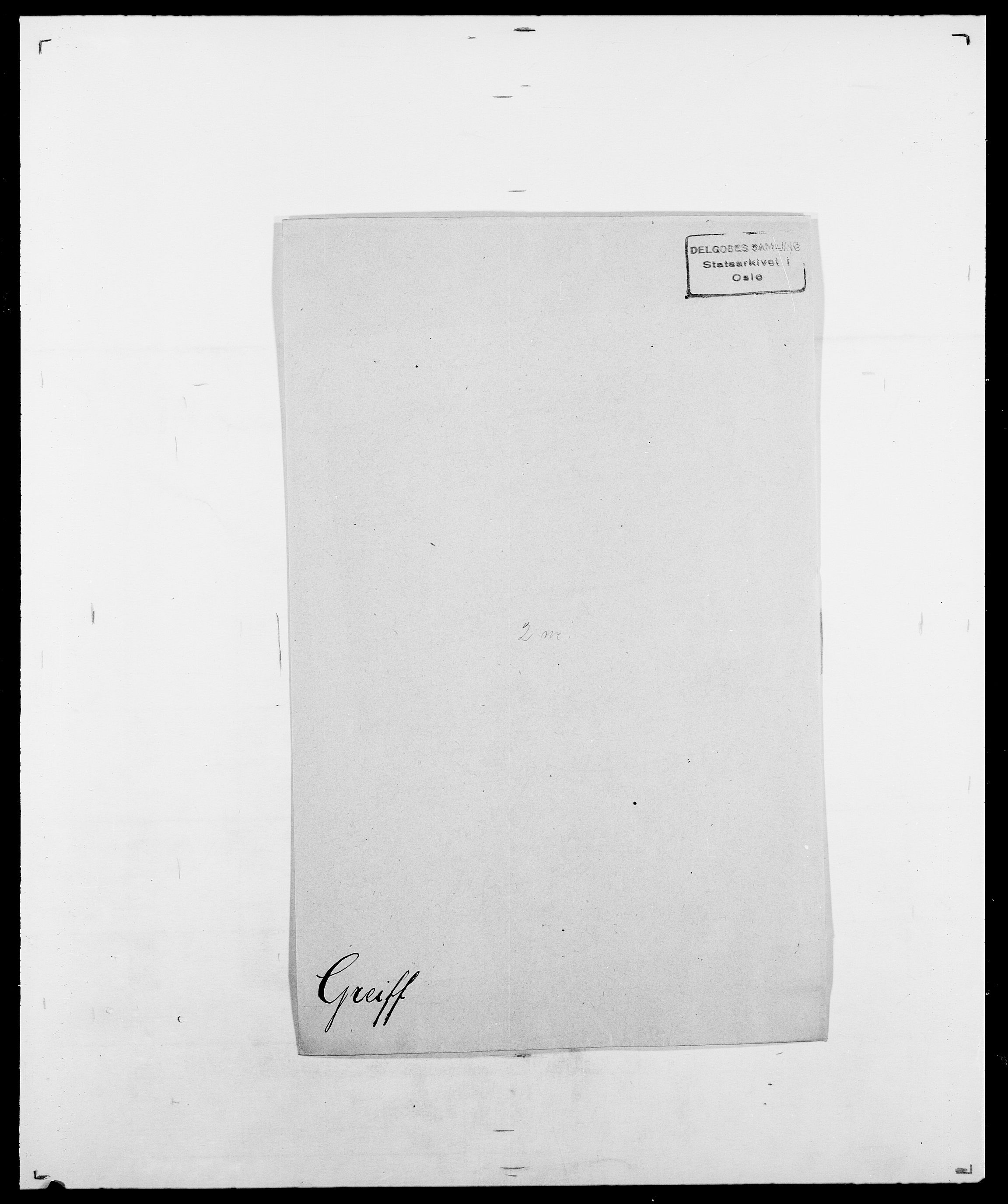 SAO, Delgobe, Charles Antoine - samling, D/Da/L0014: Giebdhausen - Grip, s. 601