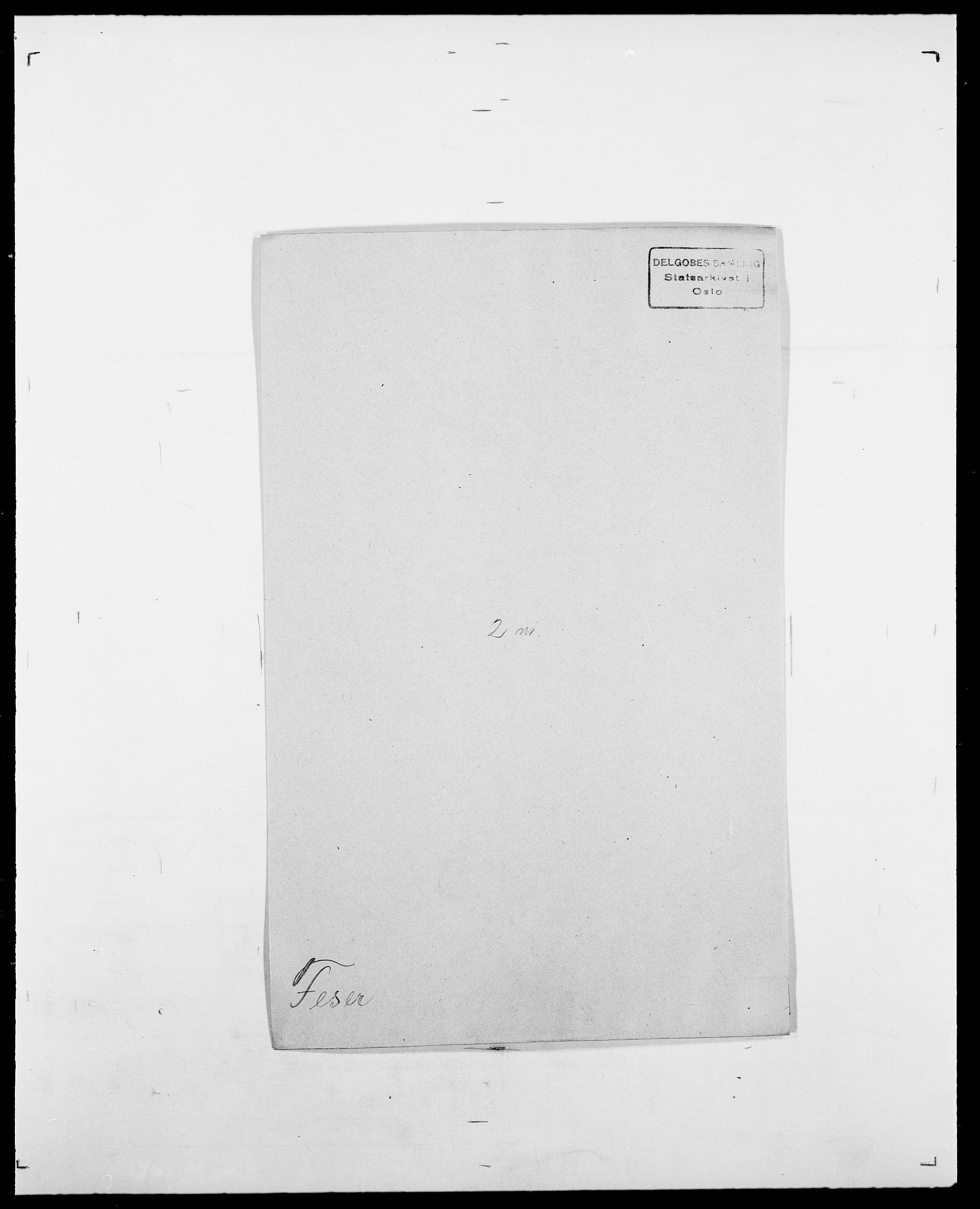 SAO, Delgobe, Charles Antoine - samling, D/Da/L0011: Fahlander - Flood, Flod, s. 397