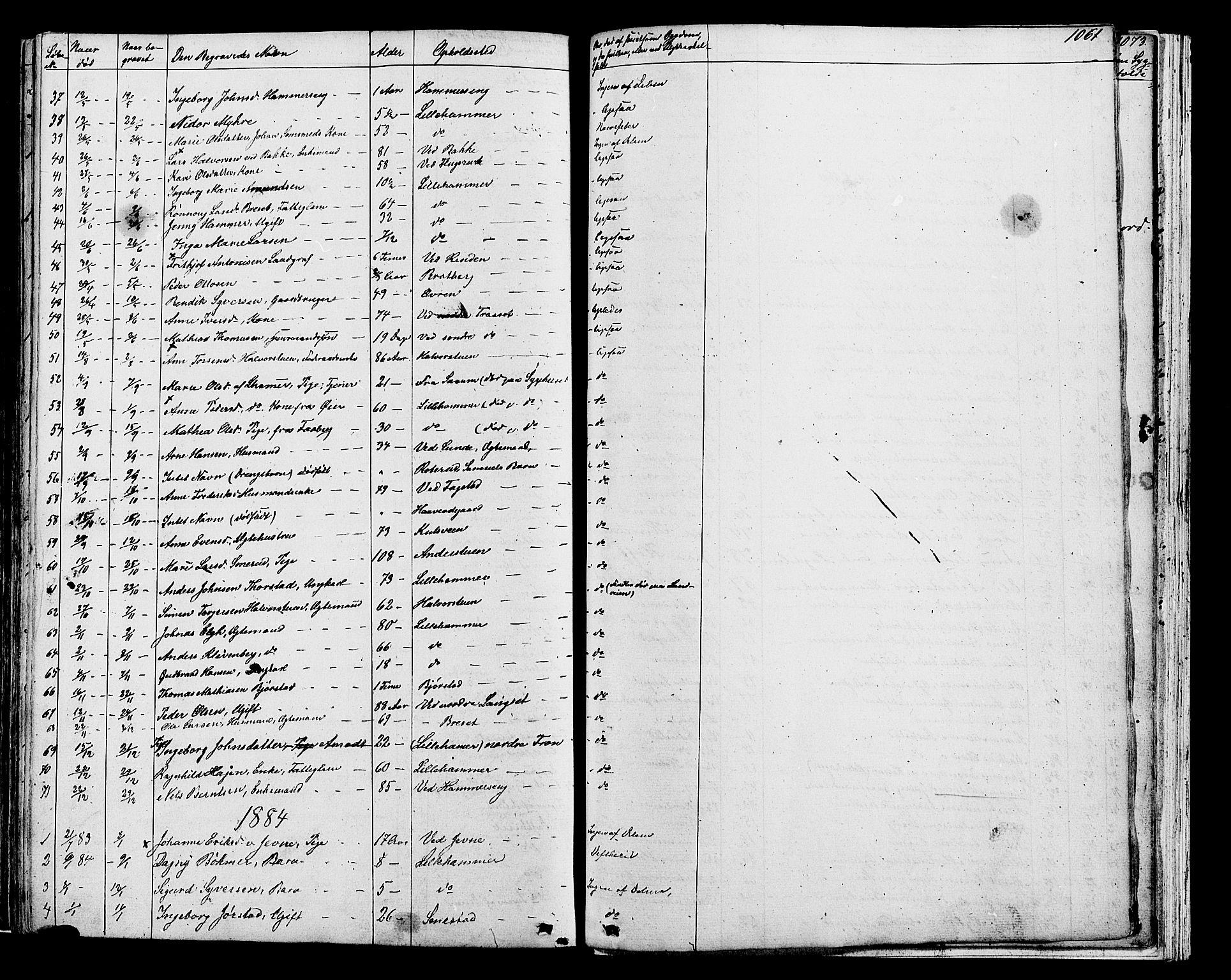 SAH, Fåberg prestekontor, Klokkerbok nr. 7, 1856-1891, s. 1060-1061