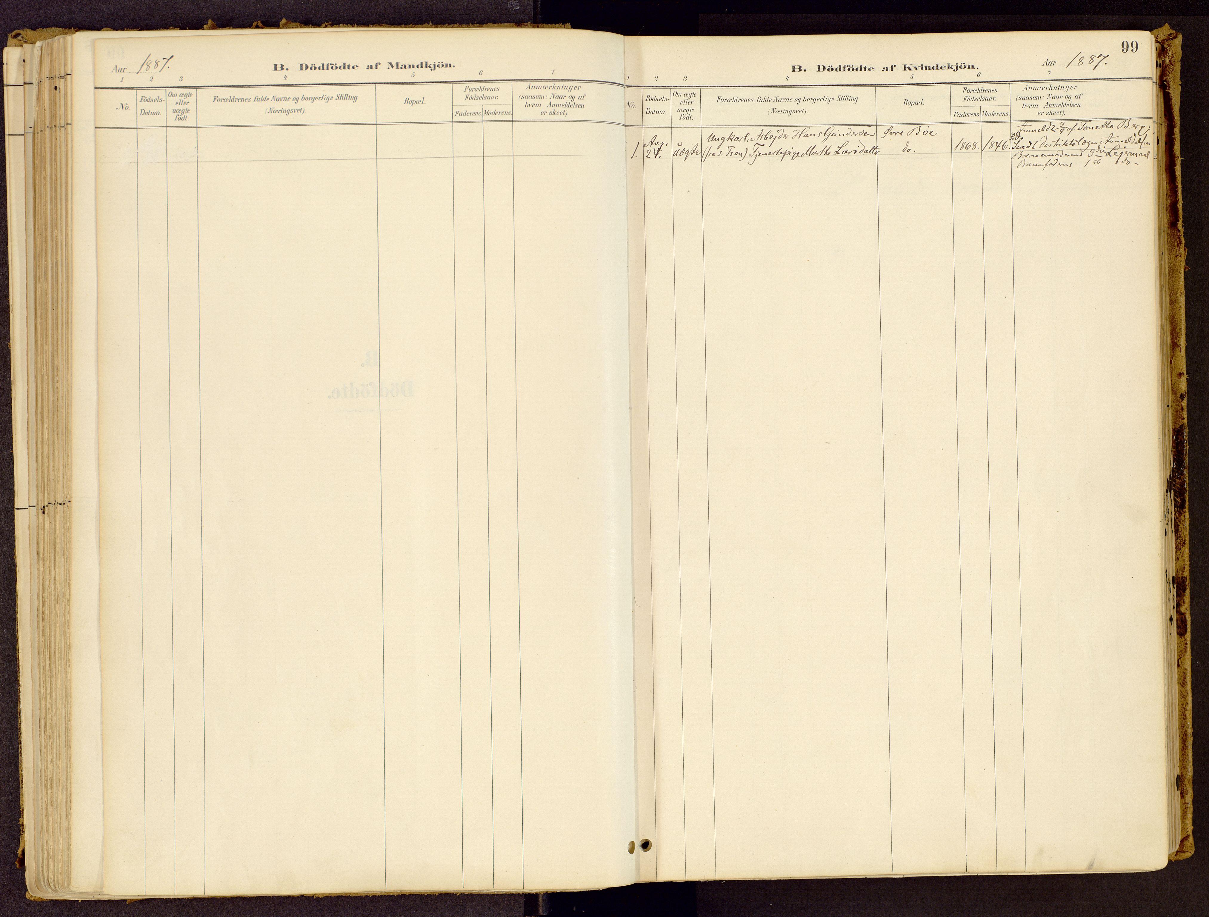SAH, Vestre Gausdal prestekontor, Ministerialbok nr. 1, 1887-1914, s. 99