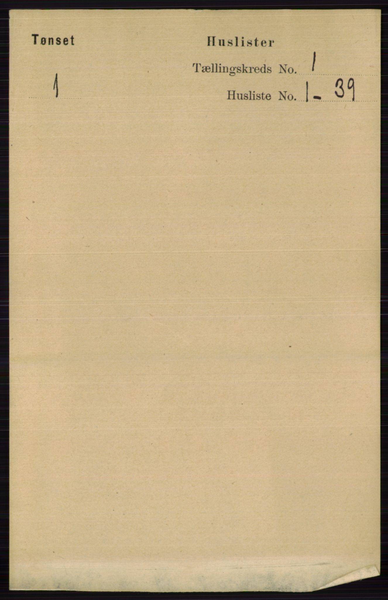 RA, Folketelling 1891 for 0437 Tynset herred, 1891, s. 31